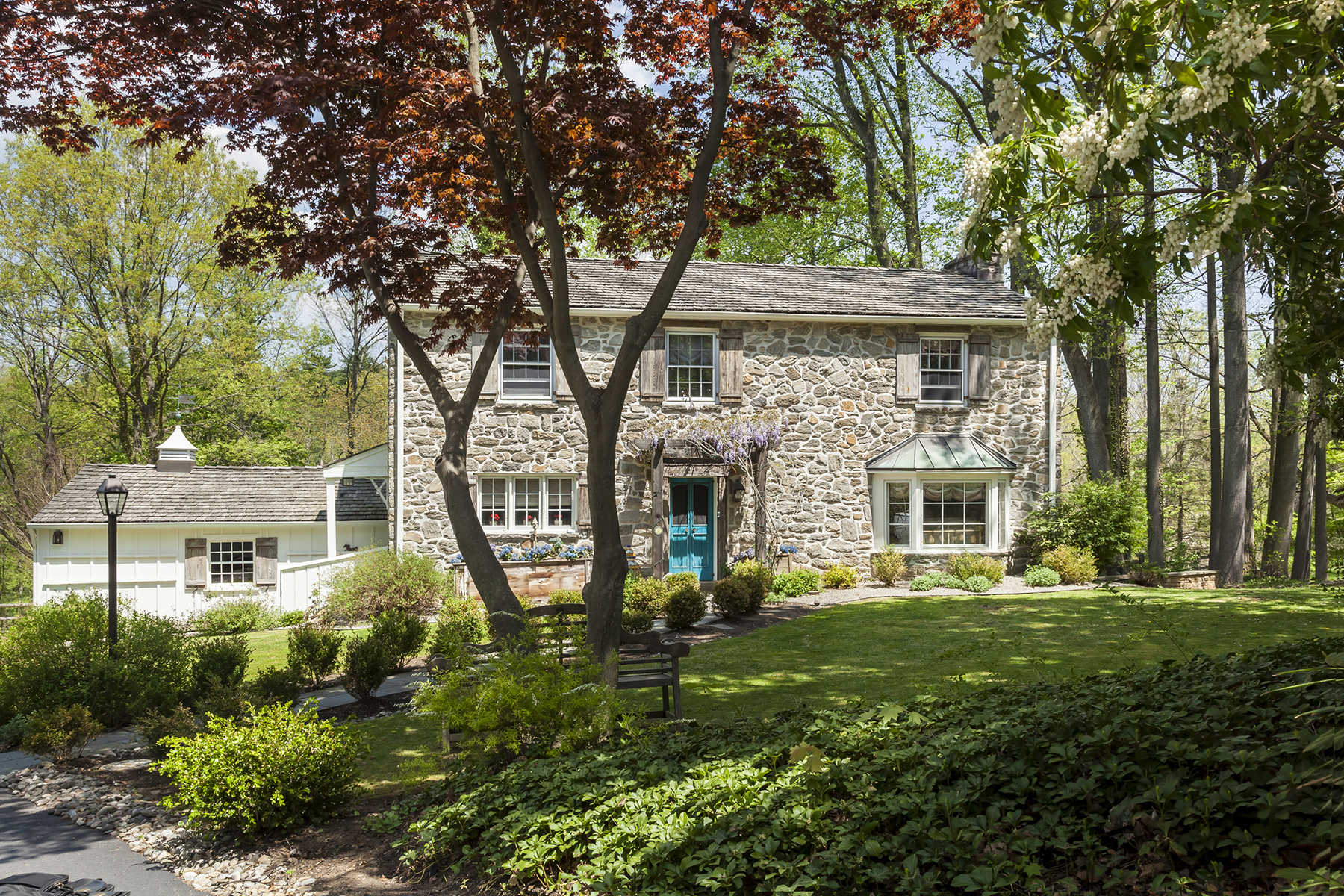 Single Family Home for Sale at Renovated Bryn Mawr Stone Colonial 643 Old Gulph Road Bryn Mawr, Pennsylvania 19010 United States