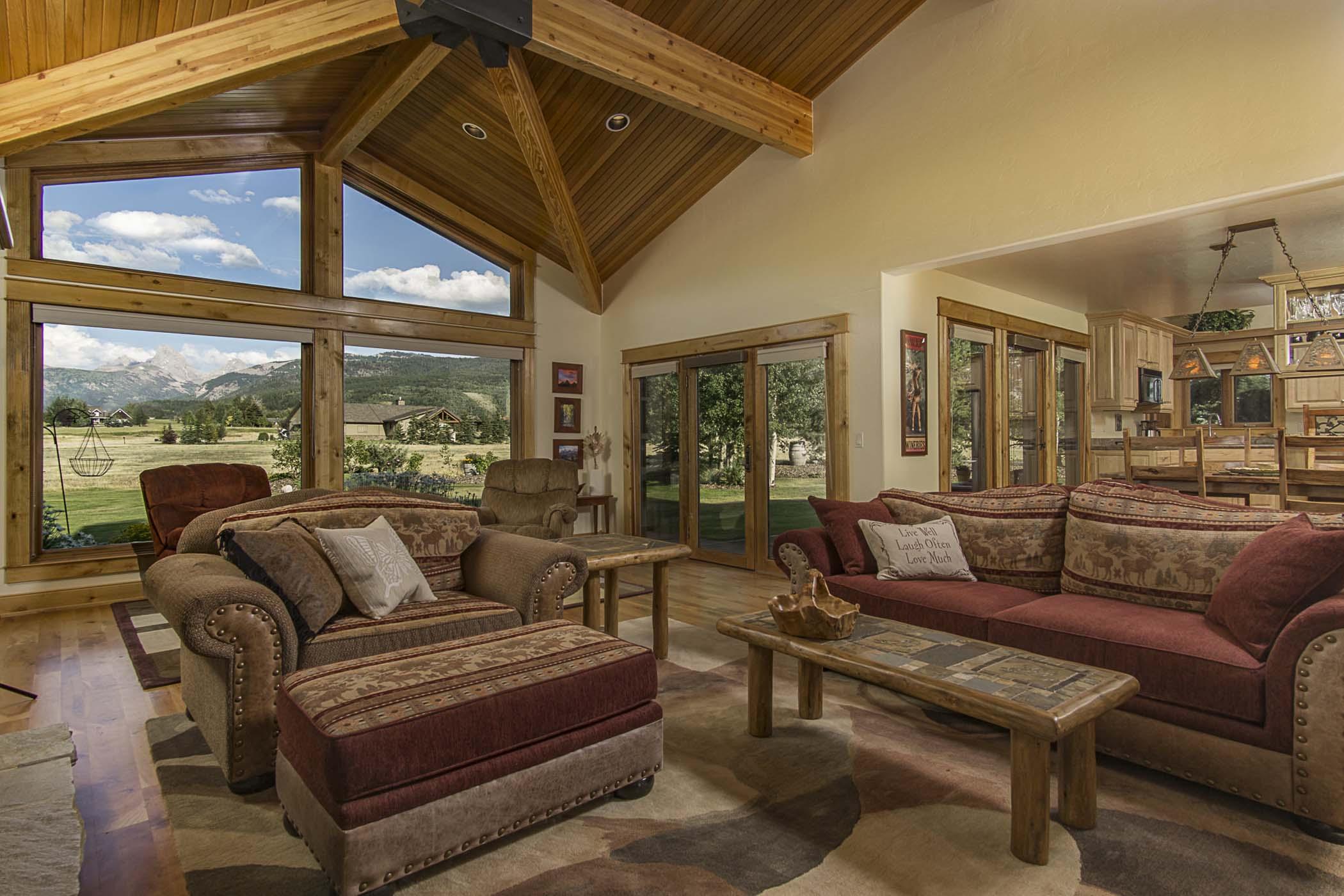 Maison unifamiliale pour l Vente à Custom Home in Alta 445 Altamont Rd Alta, Wyoming, 83414 Jackson Hole, États-Unis