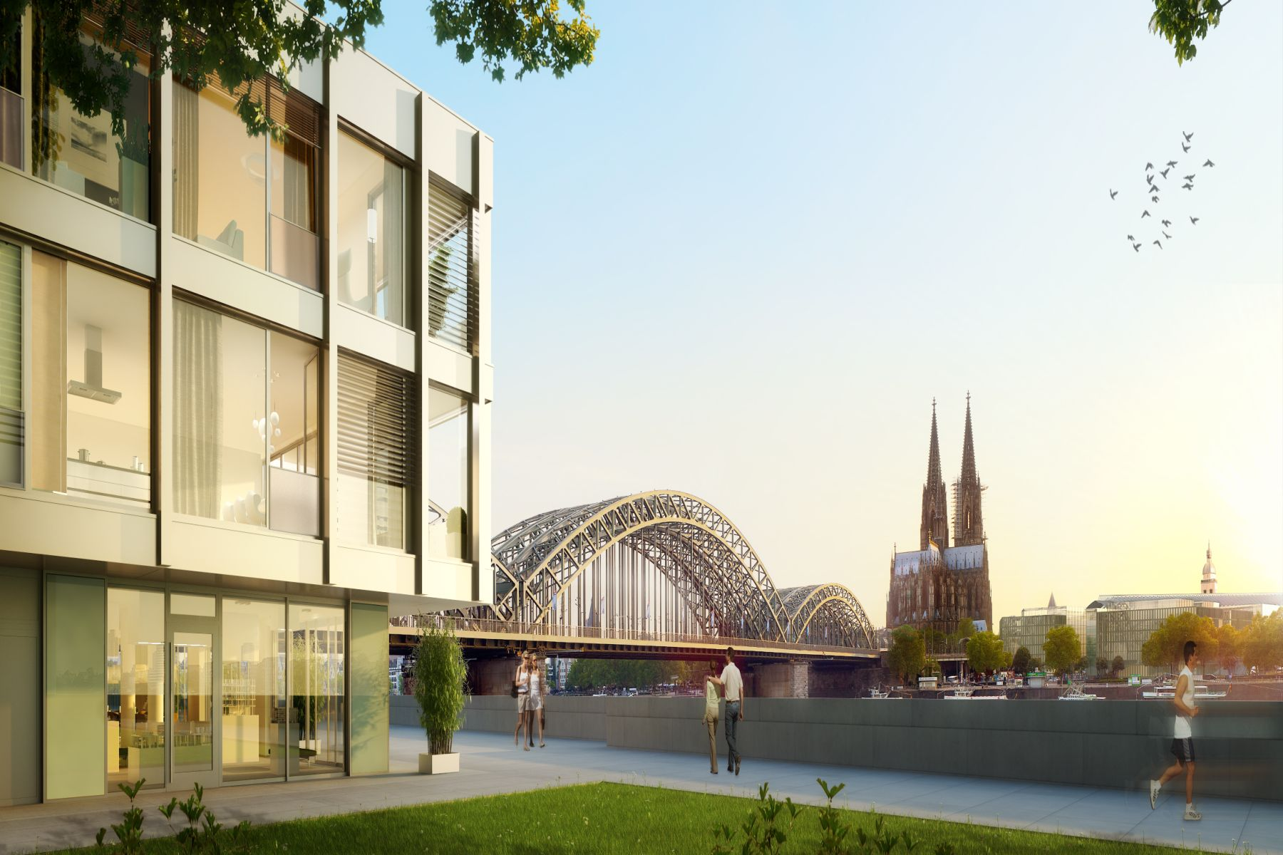 Property For Sale at The View - spectacular view over the Rhine River and Cologne Cathedral