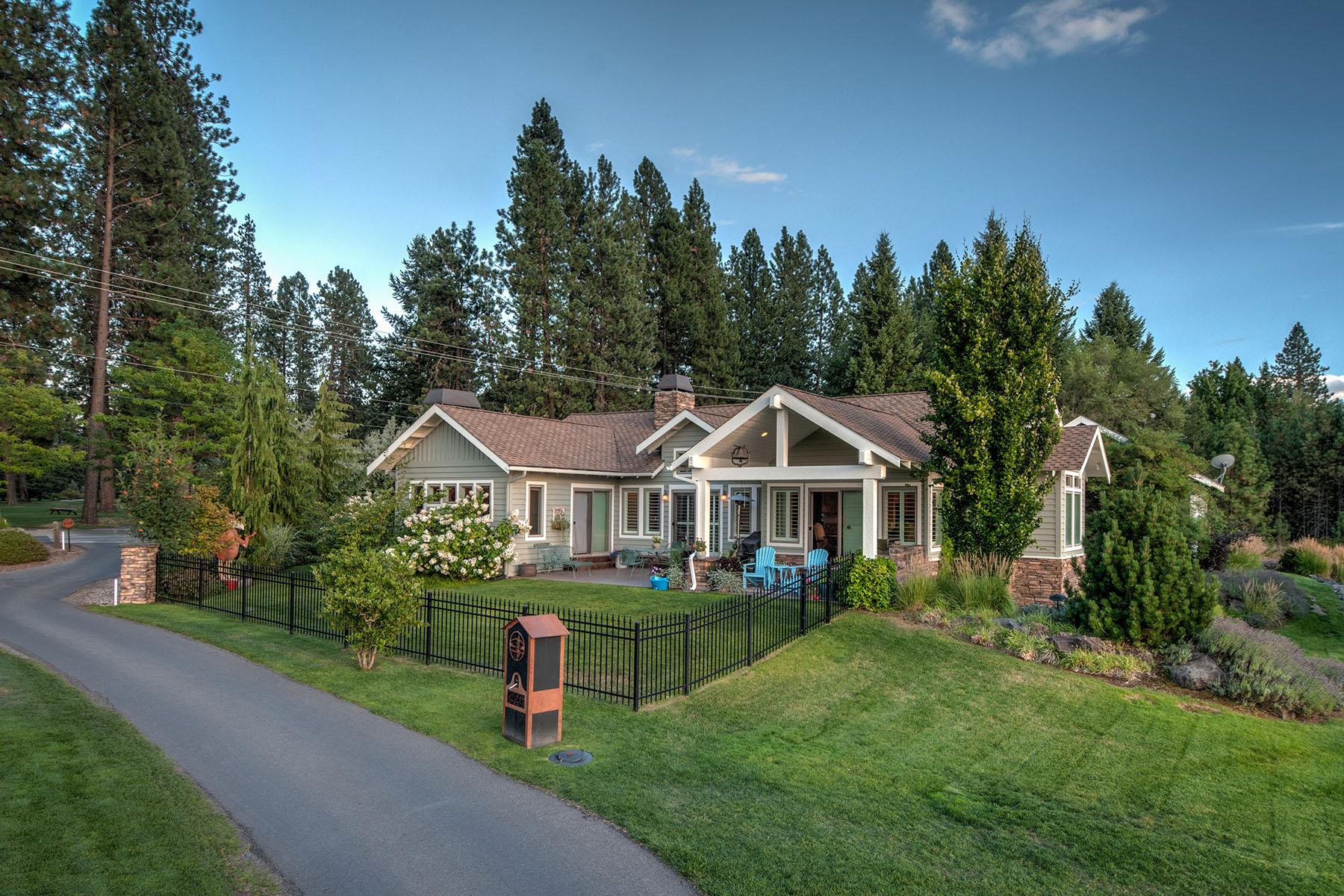 Casa Unifamiliar por un Venta en Hayden Lake CC Home 9925 N Country Club Dr Hayden Lake, Idaho, 83835 Estados Unidos