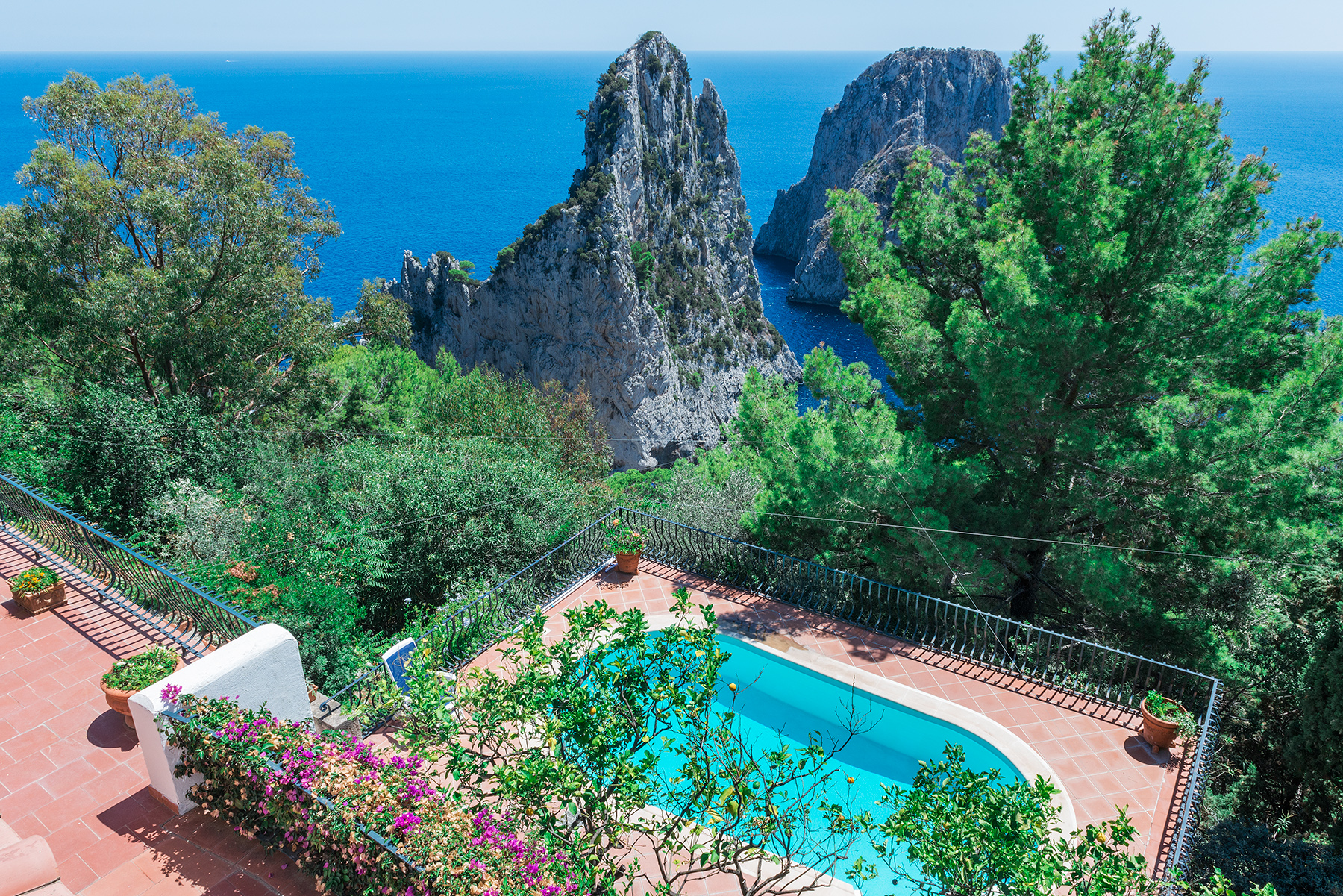Single Family Home for Sale at Beautiful villa in Capri overlooking the Faraglioni Capri, Italy