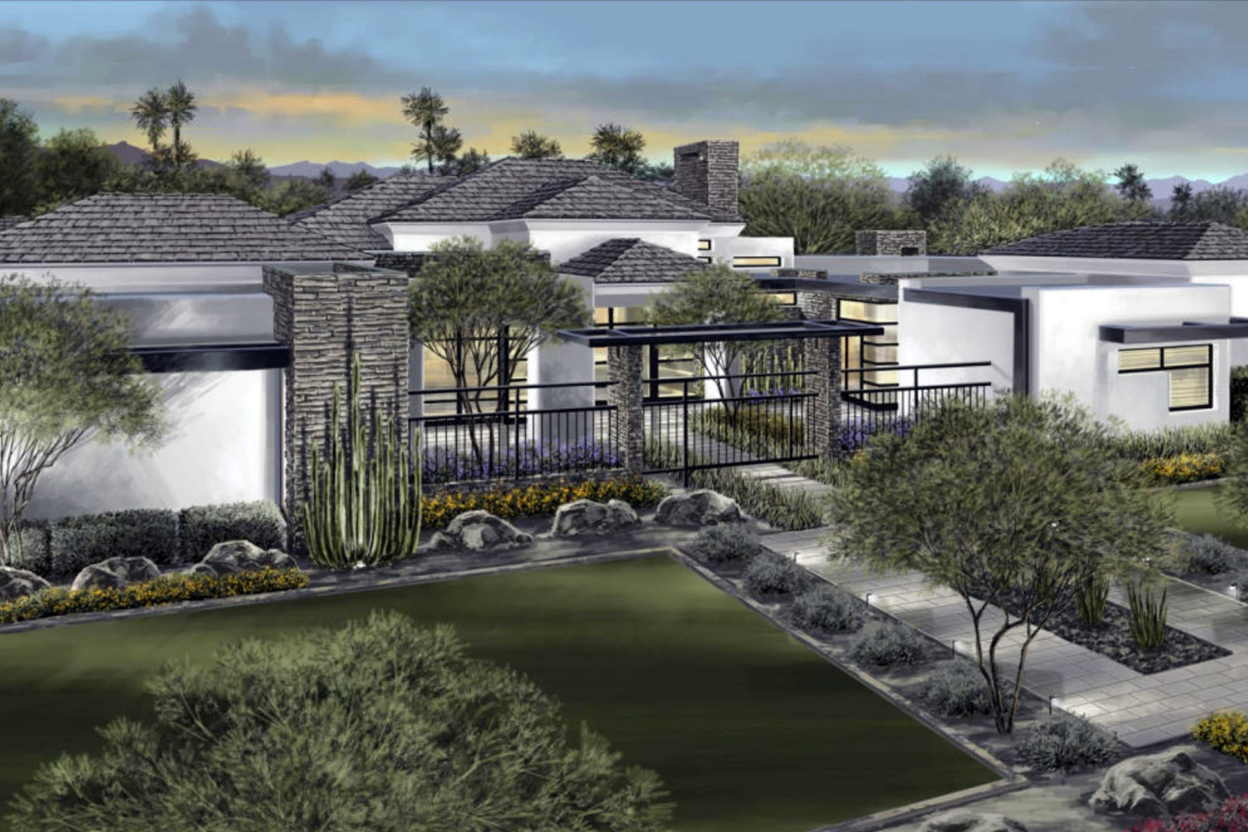 Maison unifamiliale pour l Vente à Modern Luxury Home In The Highly Coveted Neighborhood Of Paradise Valley Farms 7470 E Northern Ave Scottsdale, Arizona 85258 États-Unis