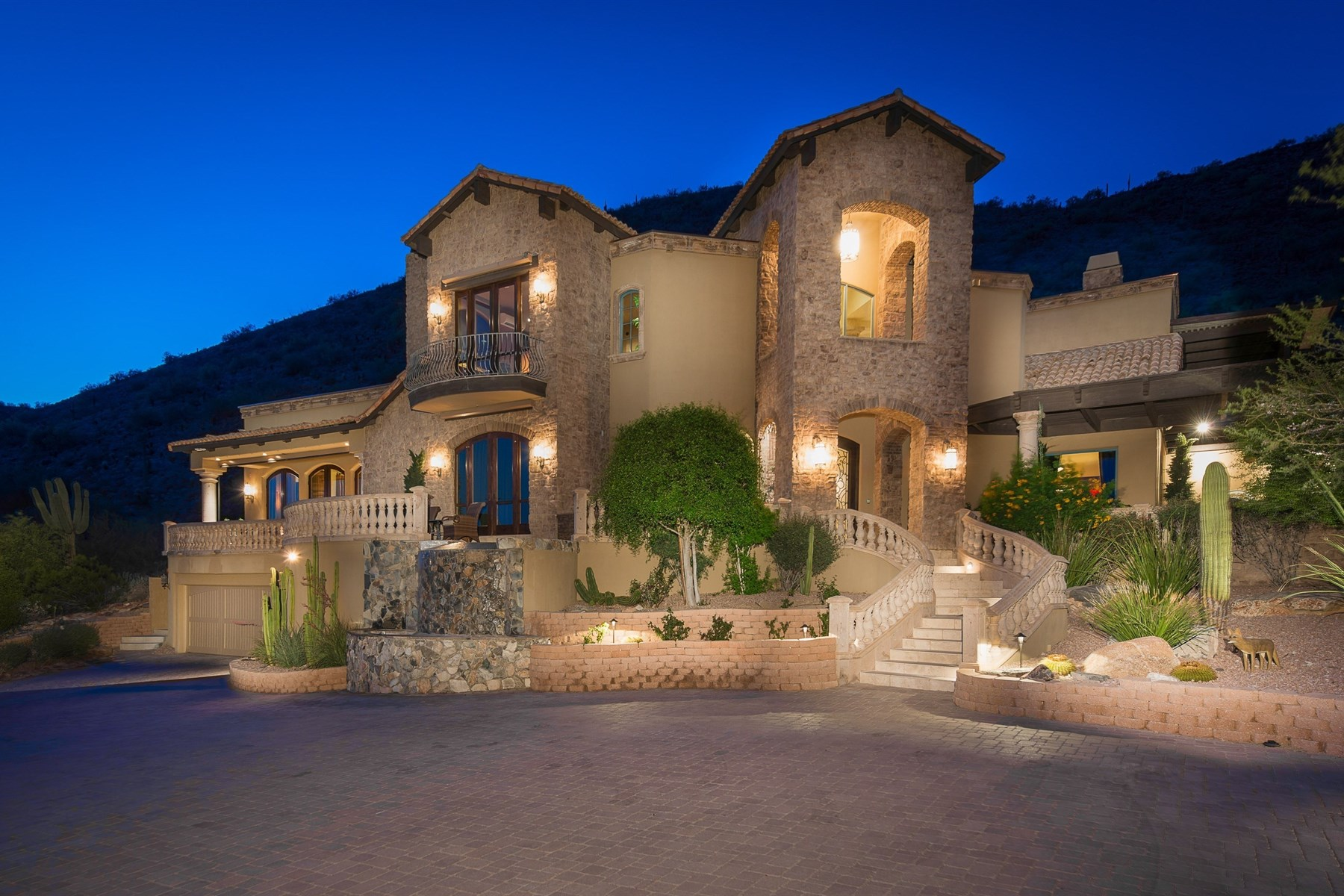 Property For Sale at Extraordinary Custom Estate Ensconced Into & Embraced By The McDowell Mountains