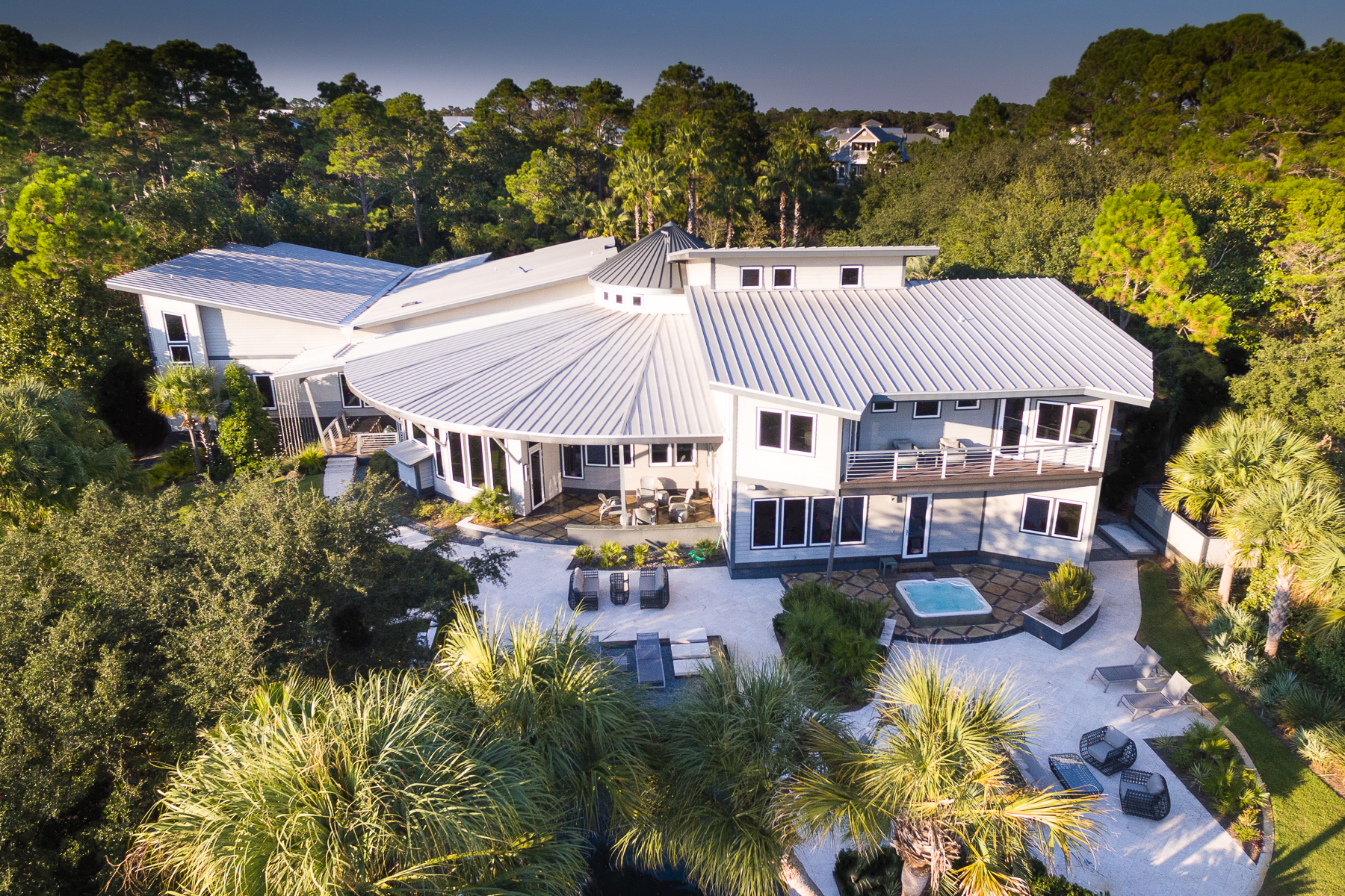Single Family Home for Sale at MODERN WATERFRONT ESTATE OFFERS RARE PRIVACY ON UNIQUE SITE 1465 W County Highway 30A Santa Rosa Beach, Florida, 32459 United States