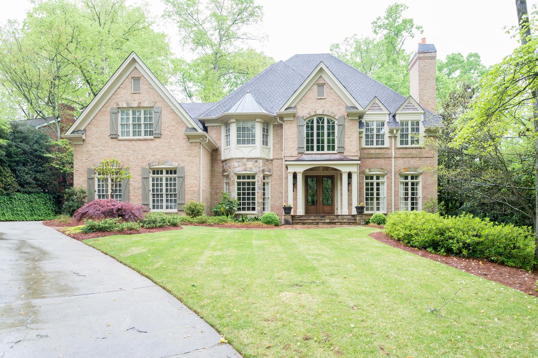 Single Family Home for Sale at A Tuxedo Park Classic 114 Blackland Road Buckhead, Atlanta, Georgia 30342 United States