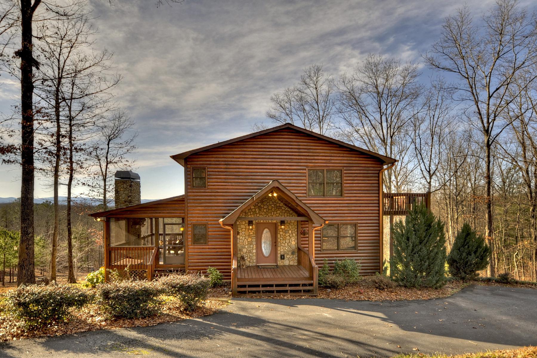 Μονοκατοικία για την Πώληση στο Furnished North Georgia Mountain Retreat 109 White Eagle Trail Mineral Bluff, Γεωργια 30559 Ηνωμενεσ Πολιτειεσ