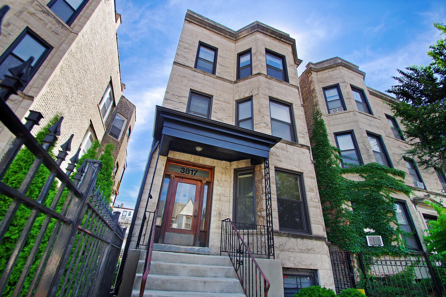 Многосемейный дом для того Продажа на Rare Opportunity for Investment 3817 N Wilton Lakeview, Chicago, Иллинойс 60613 Соединенные Штаты