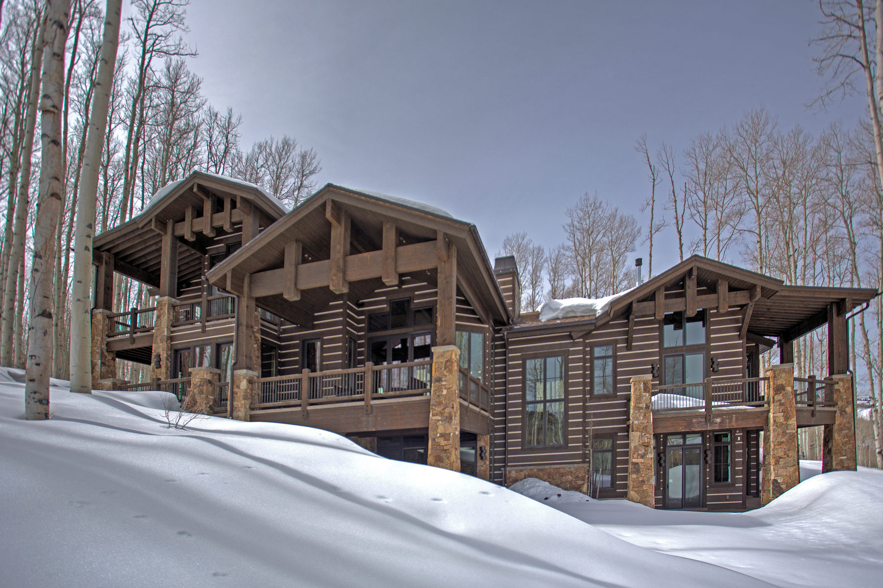 Single Family Home for Sale at Incredible Ski-In Ski-Out Colony Home with Mature Trees and Views 177 White Pine Canyon Rd Lot 177 Park City, Utah 84098 United States