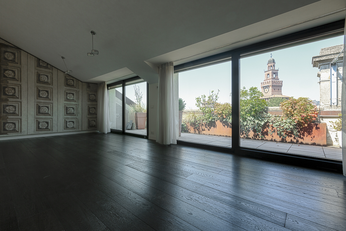 Apartment for Rent at Castle's view panoramic penthouse in Piazza Castello Milano, 20121 Italy