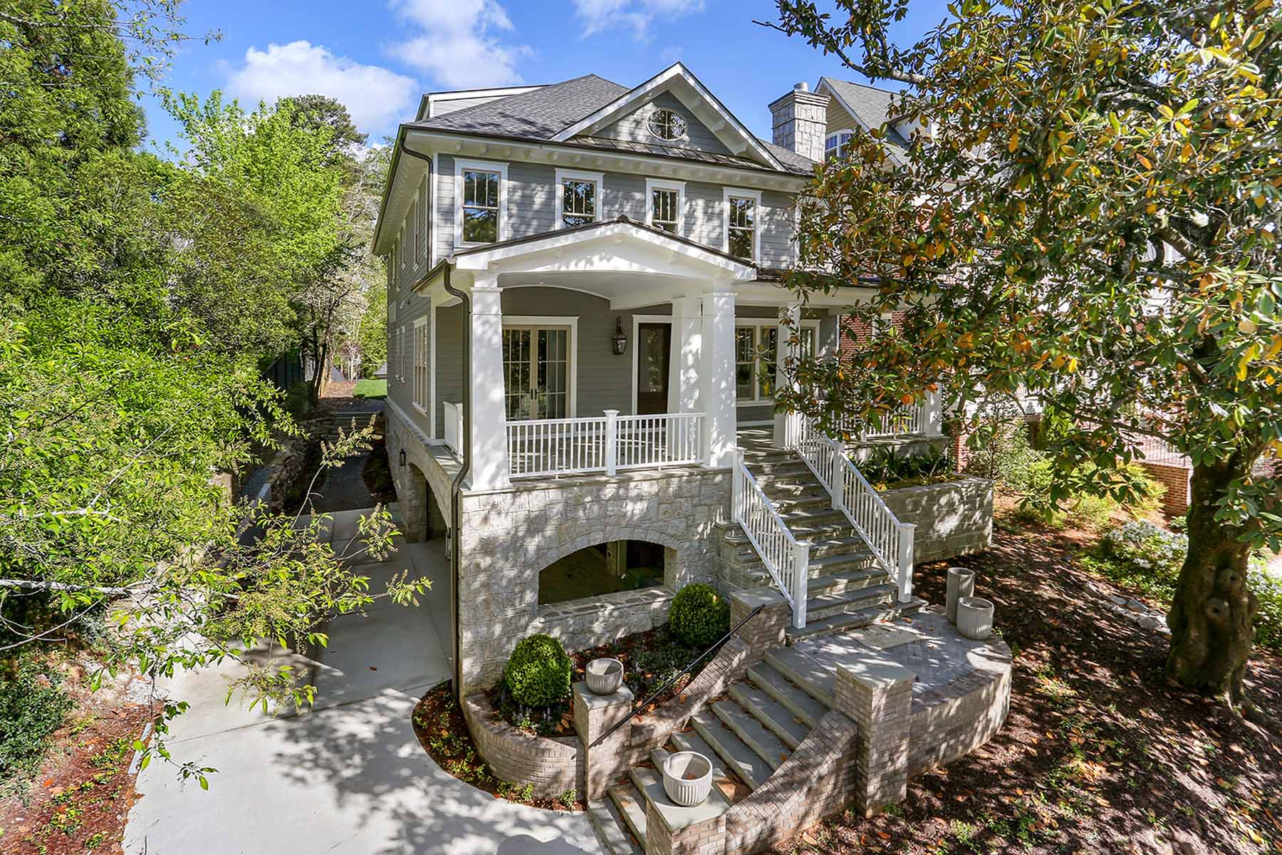 Single Family Home for Sale at New Construction With Four-Car Garage 70 Maddox Drive Ansley Park, Atlanta, Georgia, 30309 United States