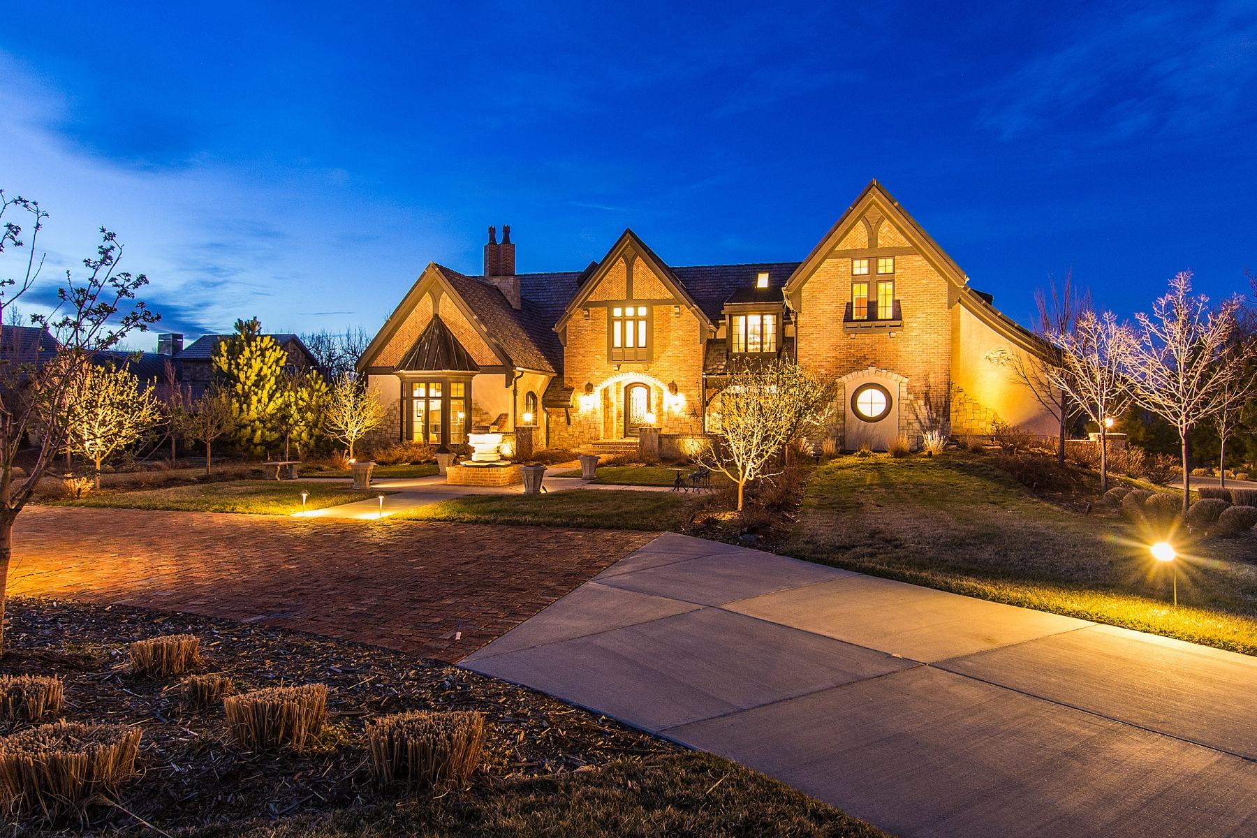 Single Family Home for Sale at Magnificent English Tudor with brilliant architecture backing to Highline Canal 4251 Preserve Parkway Greenwood Village, Colorado, 80121 United States