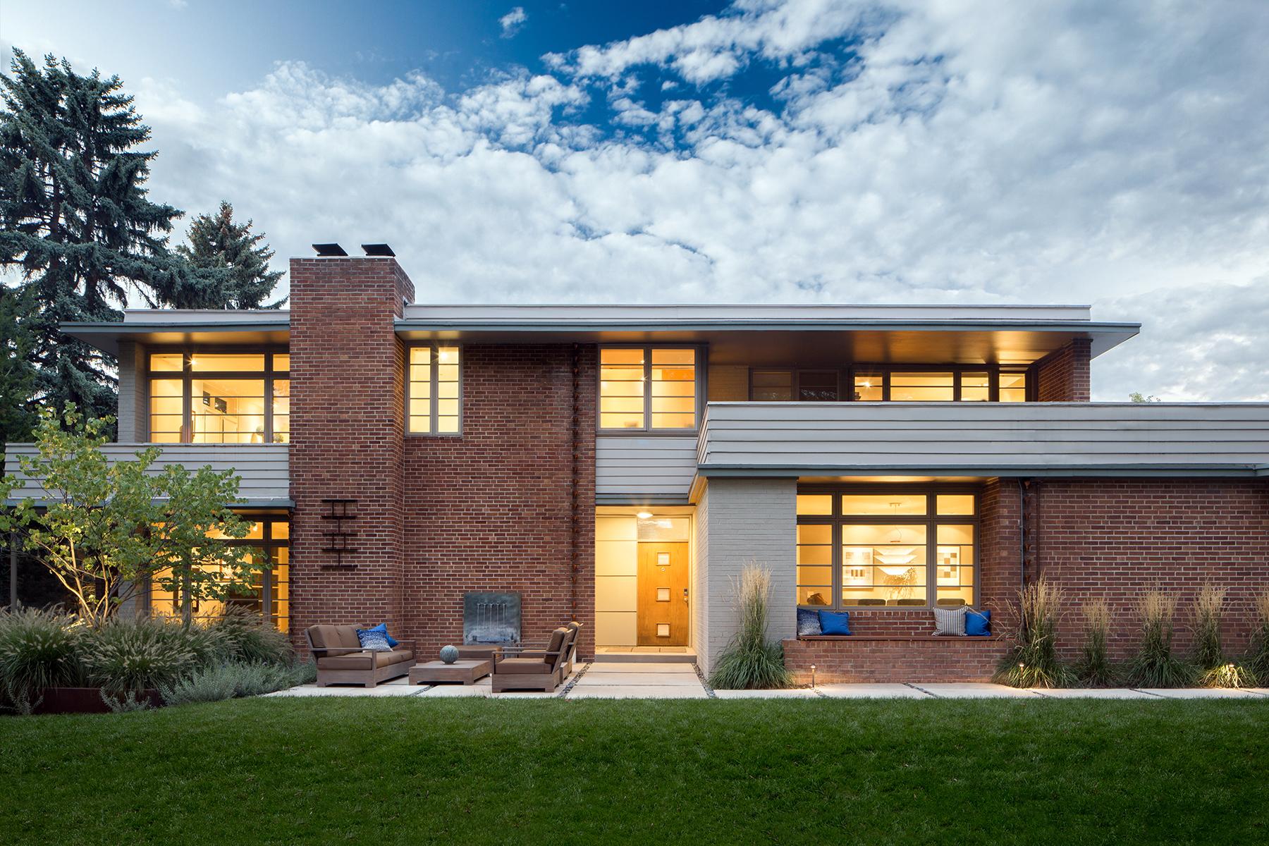 Casa Unifamiliar por un Venta en FRANK LLOYD WRIGHT'S USONIAN STYLE MID-CENTURY MODERN 5435 East Avenue Parkway Hilltop, Denver, Colorado 80220 Estados Unidos