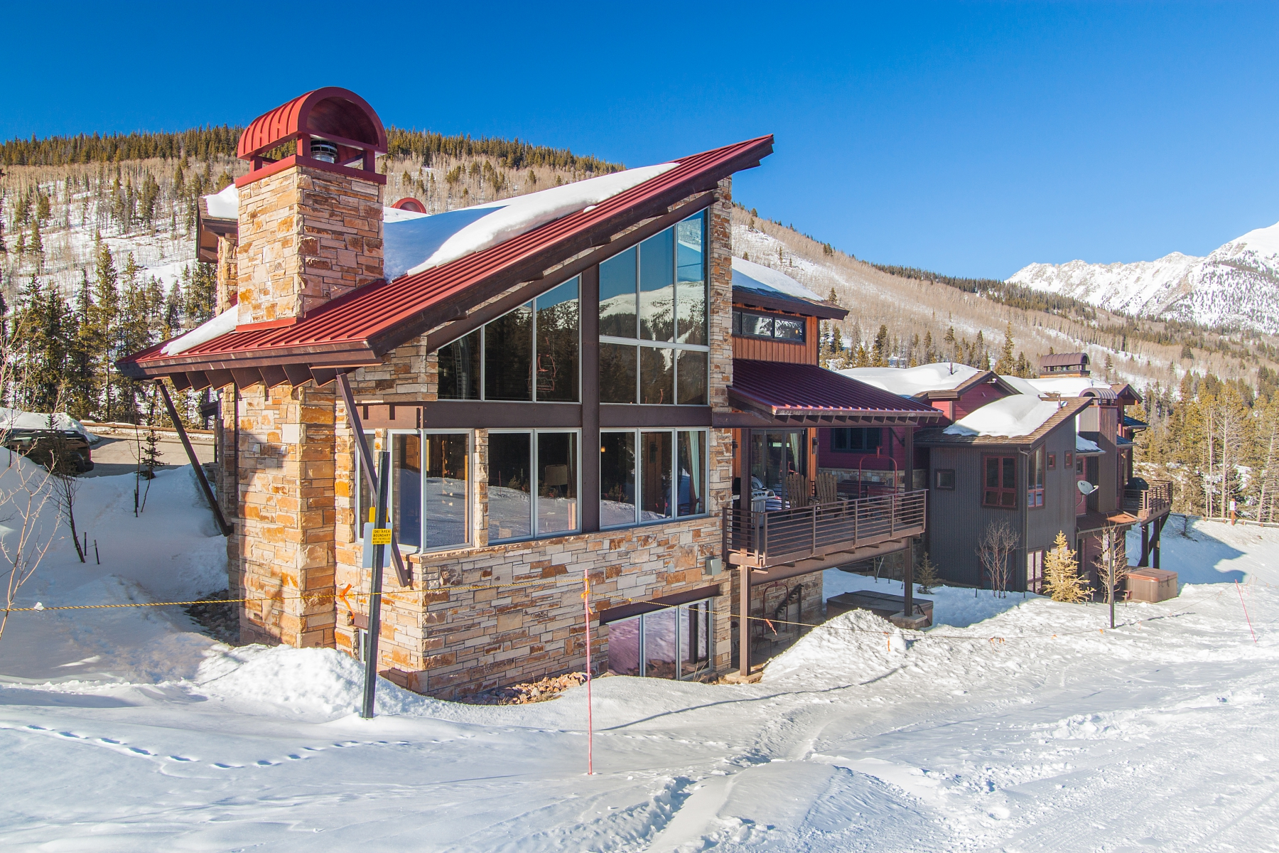 Single Family Home for Sale at Trophy Slopeside Home Boasting Impressive Views 500 Beeler Place Copper Mountain, Colorado 80443 United States