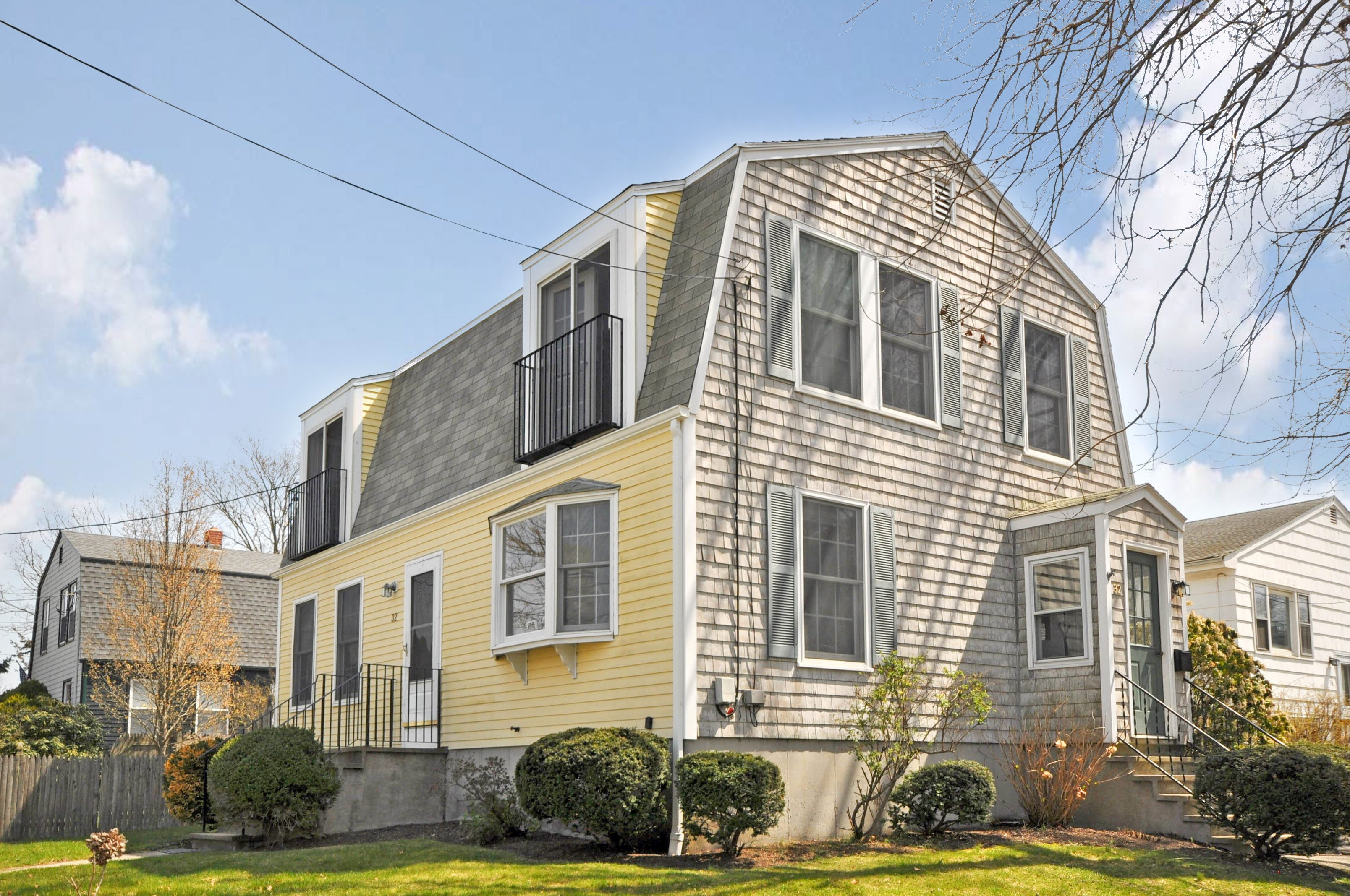 Single Family Home for Sale at Charming Colonial with Water Views 32 Roseneath Avenue Newport, Rhode Island, 02840 United States