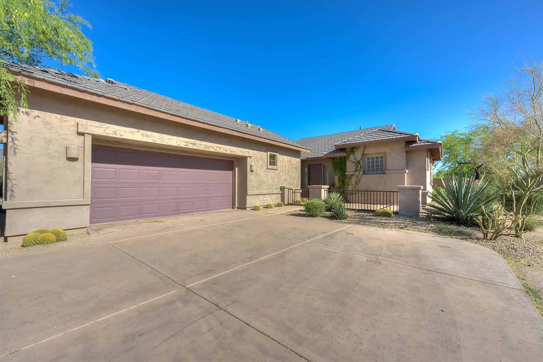 rentals property at Private and secluded single level home located on a cul-de-sac.