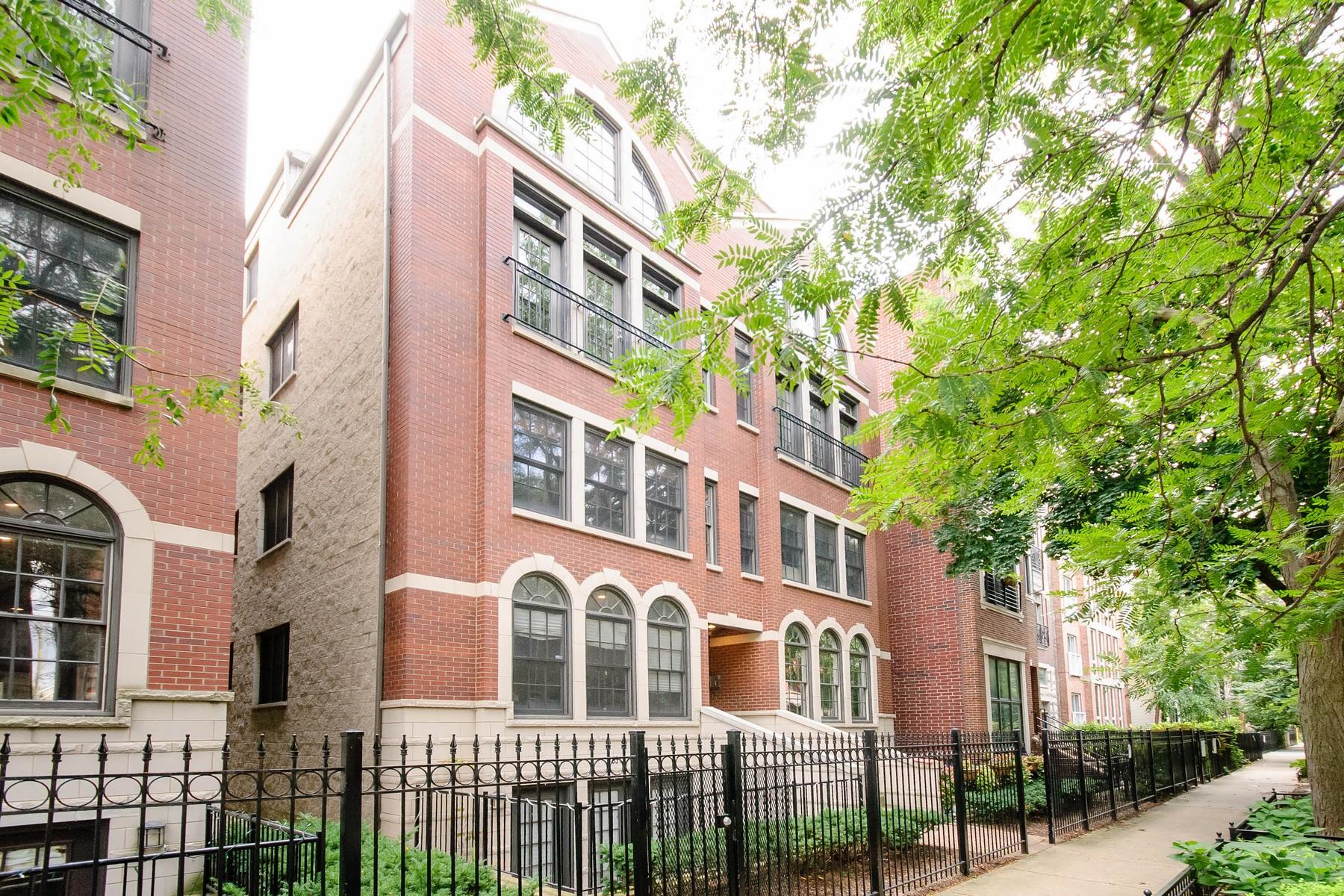 共管式独立产权公寓 为 销售 在 Gorgeous Old Town Duplex Up! 1529 N Mohawk Street Unit 3S Near North Side, 芝加哥, 伊利诺斯州 60610 美国
