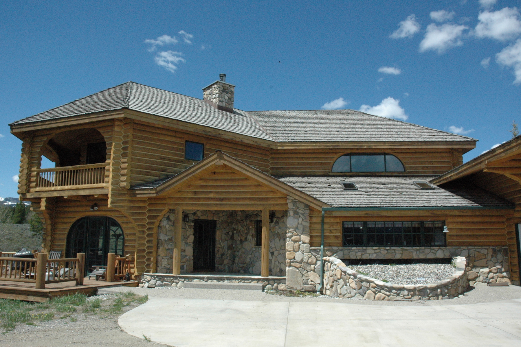 sales property at Crown Butte Custom Log Home