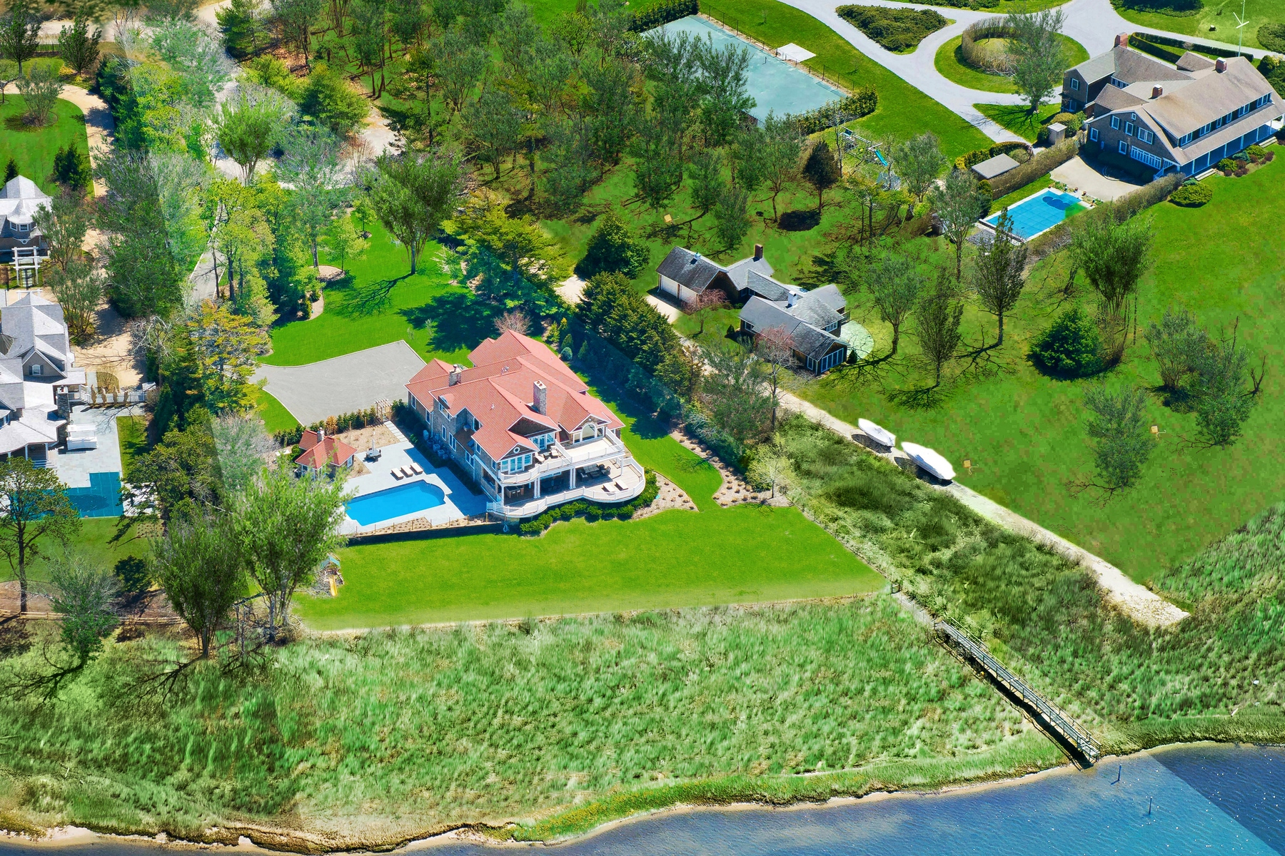 獨棟家庭住宅 為 出售 在 Captivating Waterfront Estate Off Quogue Street Quogue, 紐約州, 11959 美國