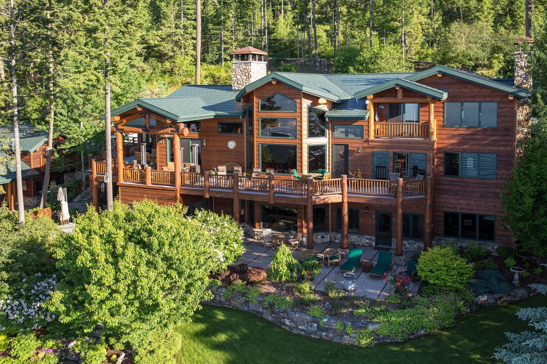Casa para uma família para Venda às 527 Conrad Point Lakeside, Montana 59922 Estados Unidos