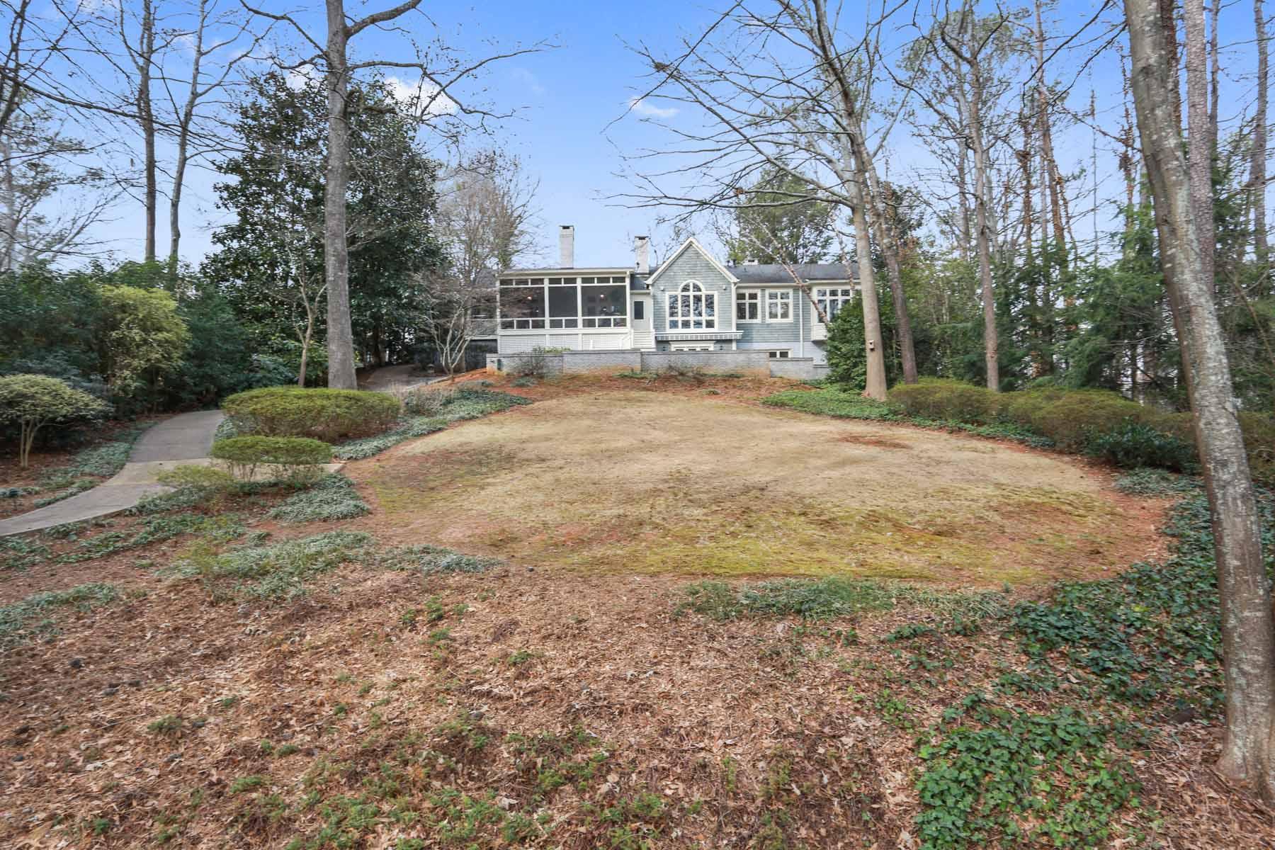 Single Family Home for Sale at Serene & Private Retreat on Private Lake 1591 Huntingdon Trail Atlanta, Georgia, 30350 United States
