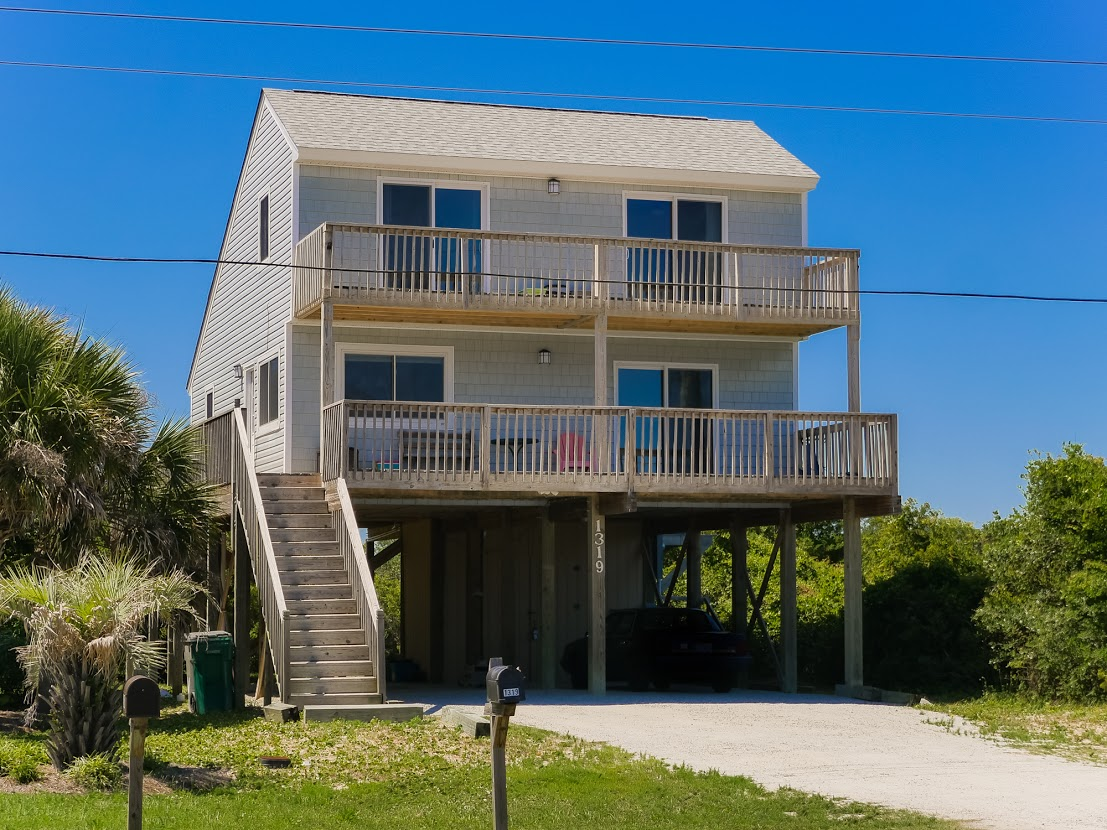 Single Family Home for Sale at Intracoastal Waterway Backdrop 1319 N New River Drive Surf City, North Carolina, 28445 United States