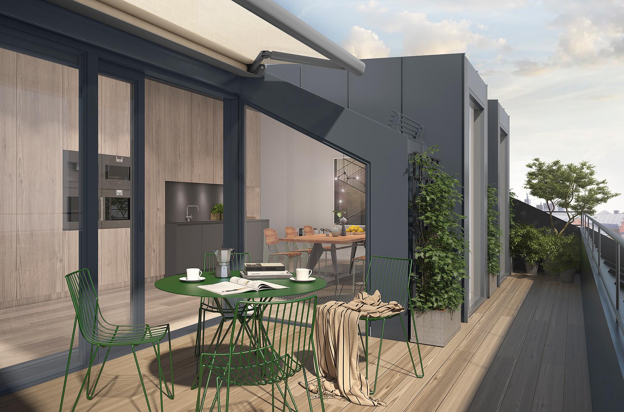 Casa Unifamiliar Adosada por un Venta en Extraordinary new penthouse with terrace Stockholm, Stockholm Suecia