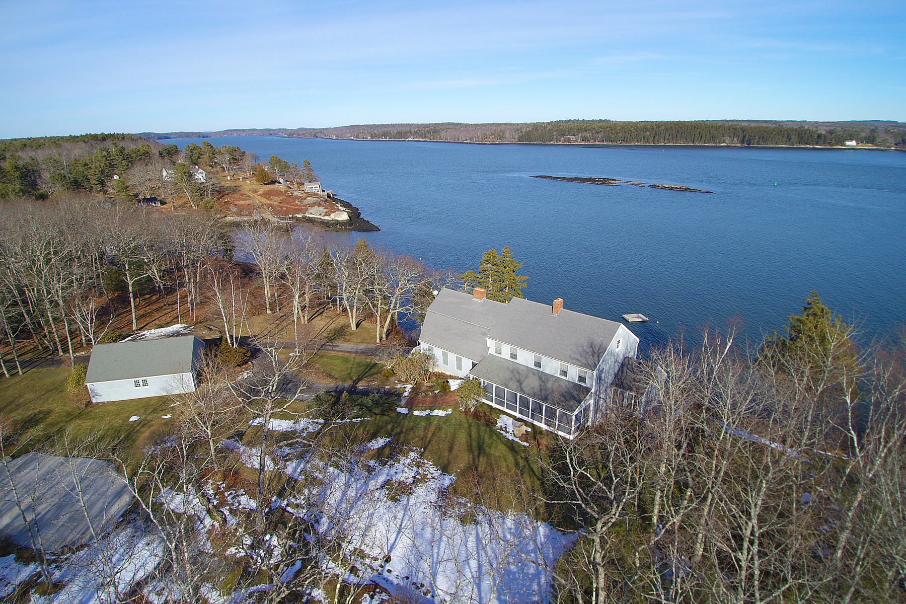 Single Family Home for Sale at East Shore Road 266 East Shore Road Westport Island, Maine 04578 United States