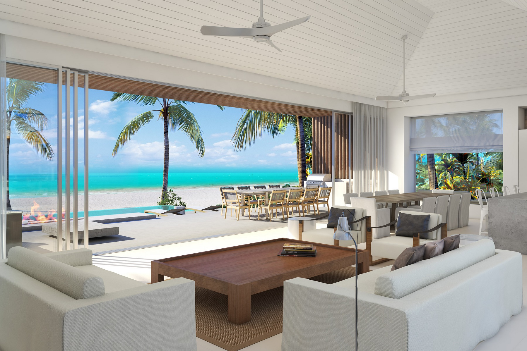 Villa per Vendita alle ore BEACH ENCLAVE LONG BAY - Design One 5B Beachfront Long Bay, Providenciales, TCI Turks E Caicos