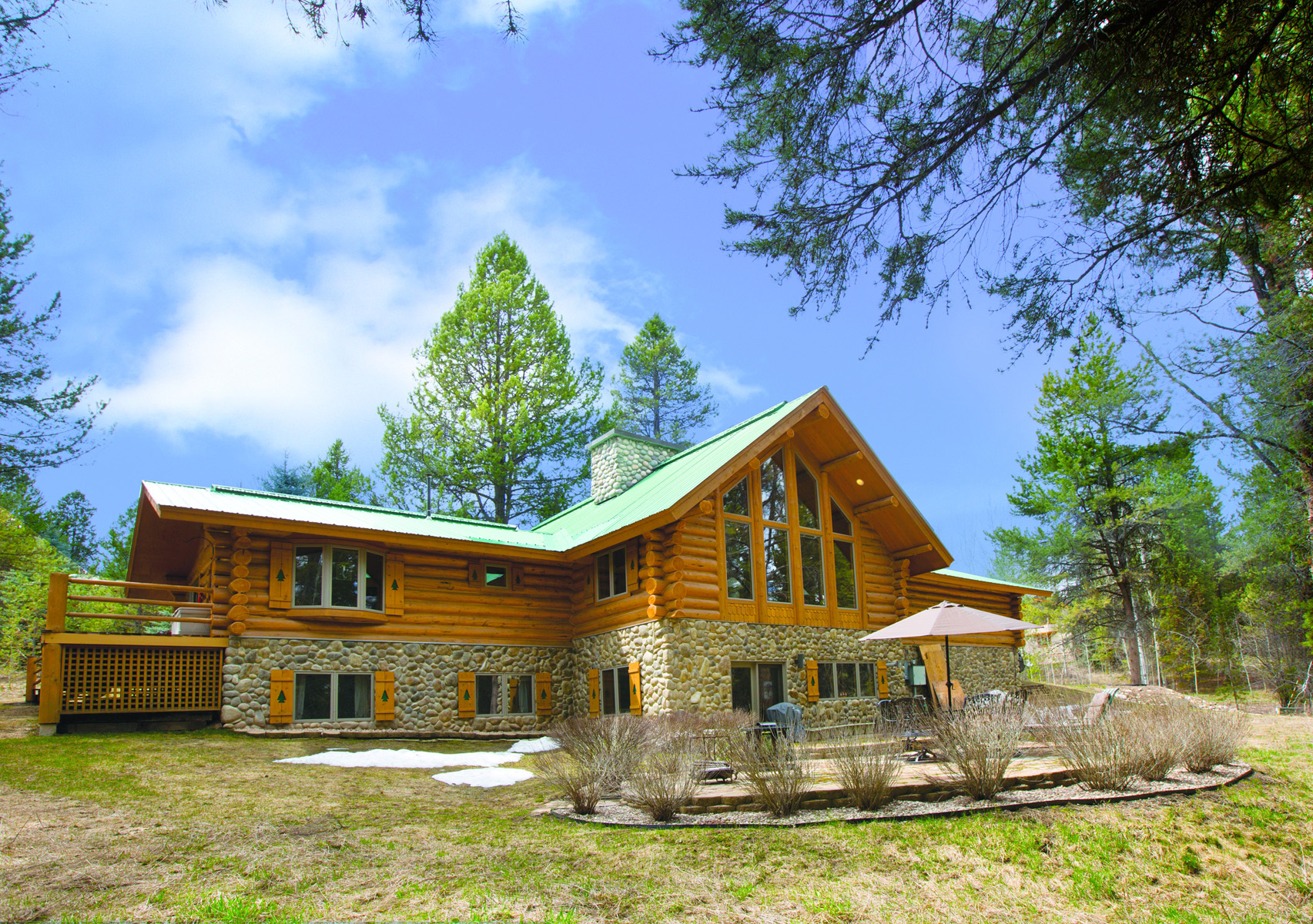 sales property at Charming Log Home in the Woods