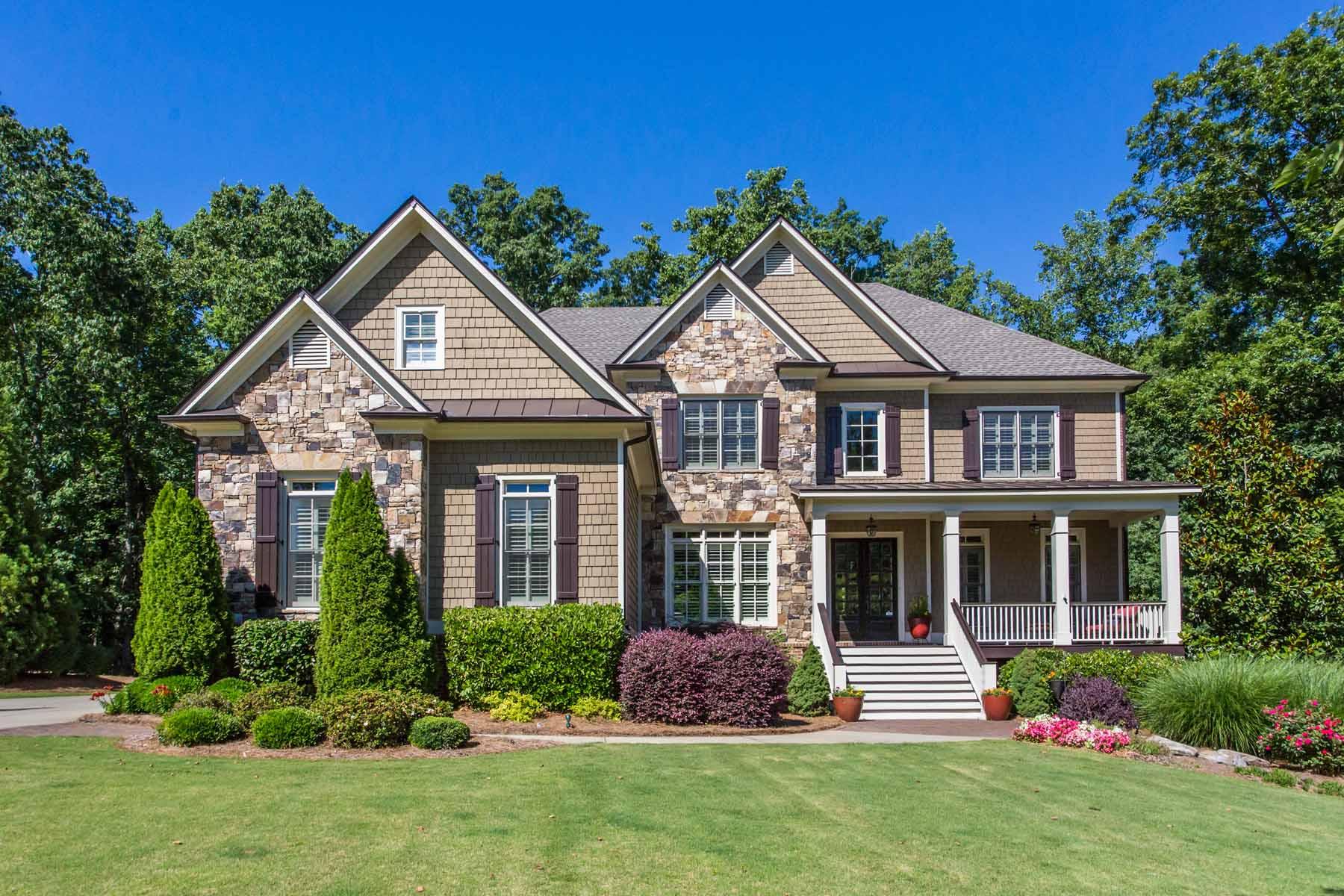 Maison unifamiliale pour l Vente à Stunning Executive Home 14644 Timber Point Alpharetta, Georgia, 30004 États-Unis