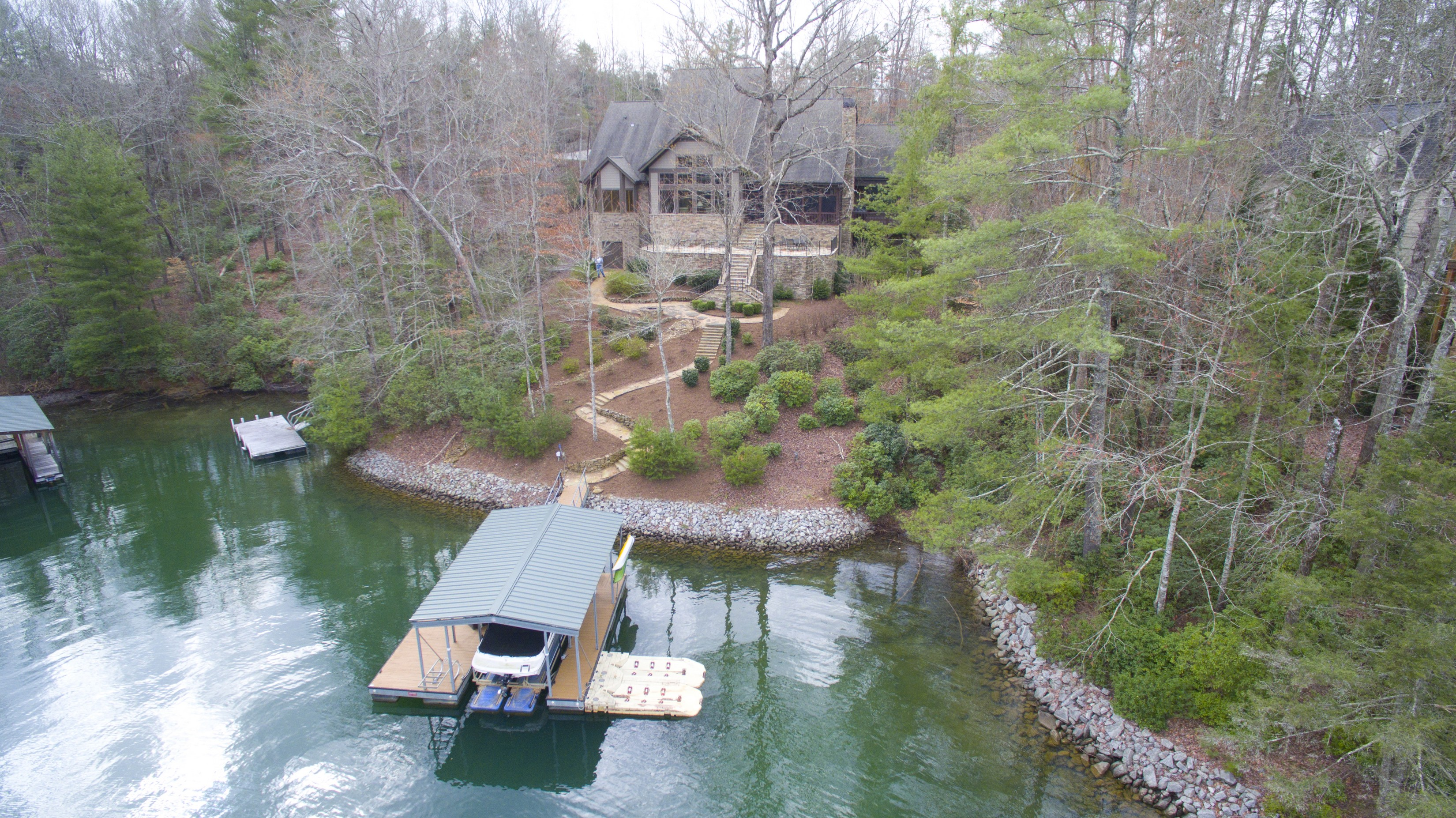 Single Family Home for Sale at A True Estate Feel to this Waterfront Home 104 Paw Paw Way The Cliffs At Keowee Vineyards, Sunset, South Carolina, 29685 United States