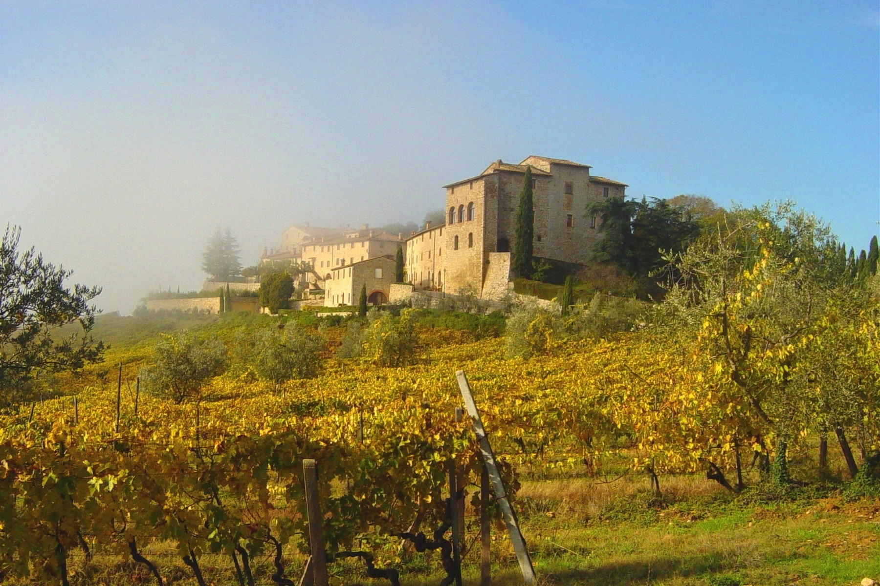 sales property at Historic castle in Chianti with vineyard
