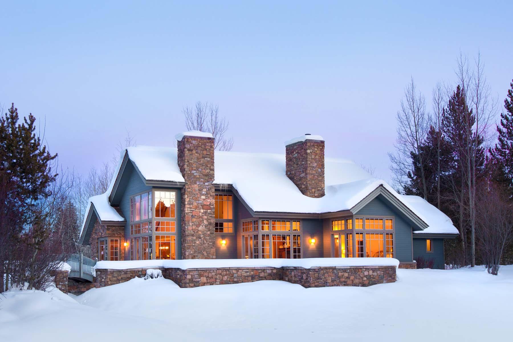 Casa Unifamiliar por un Venta en Waterfront Sanctuary with a View 4475 Timbers Place Wilson, Wyoming, 83014 Estados Unidos