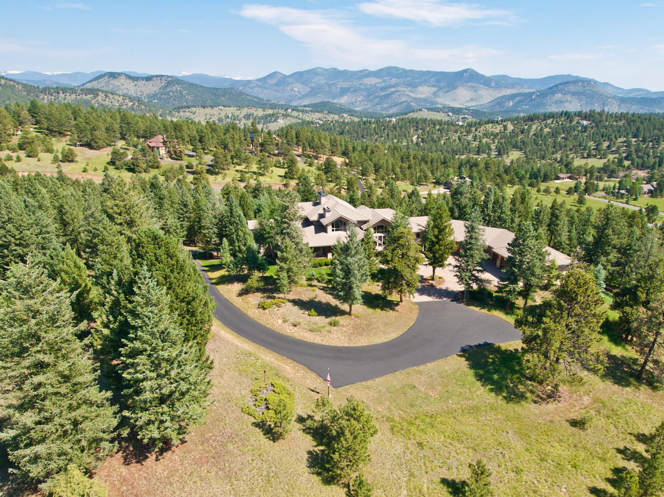 Single Family Home for Sale at One of Evergreen's Best Locations 32534 Meadow Mountain Lane Evergreen, Colorado, 80439 United States