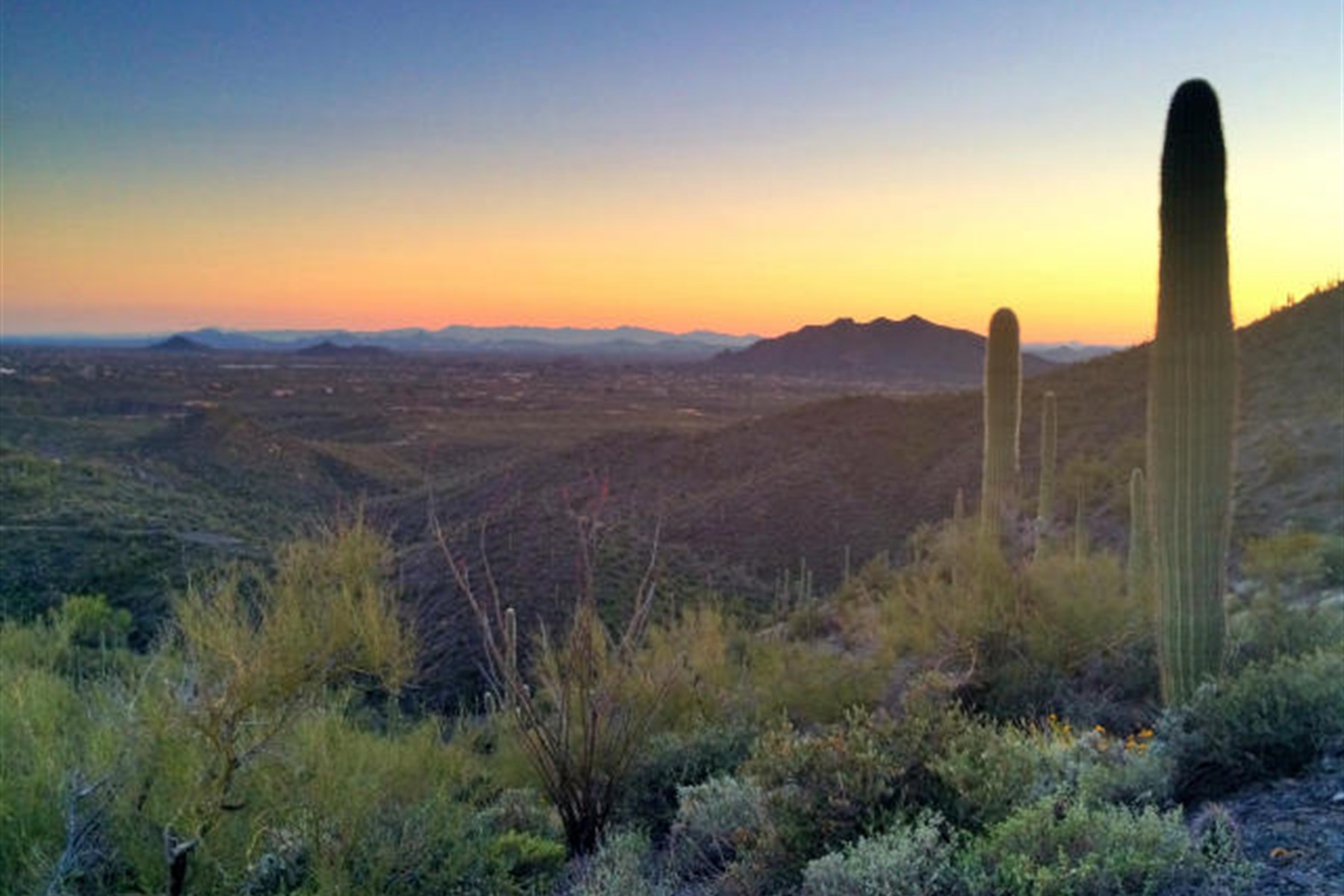 sales property at Two separate parcels combine to create a 29-acre homesite on top of the world