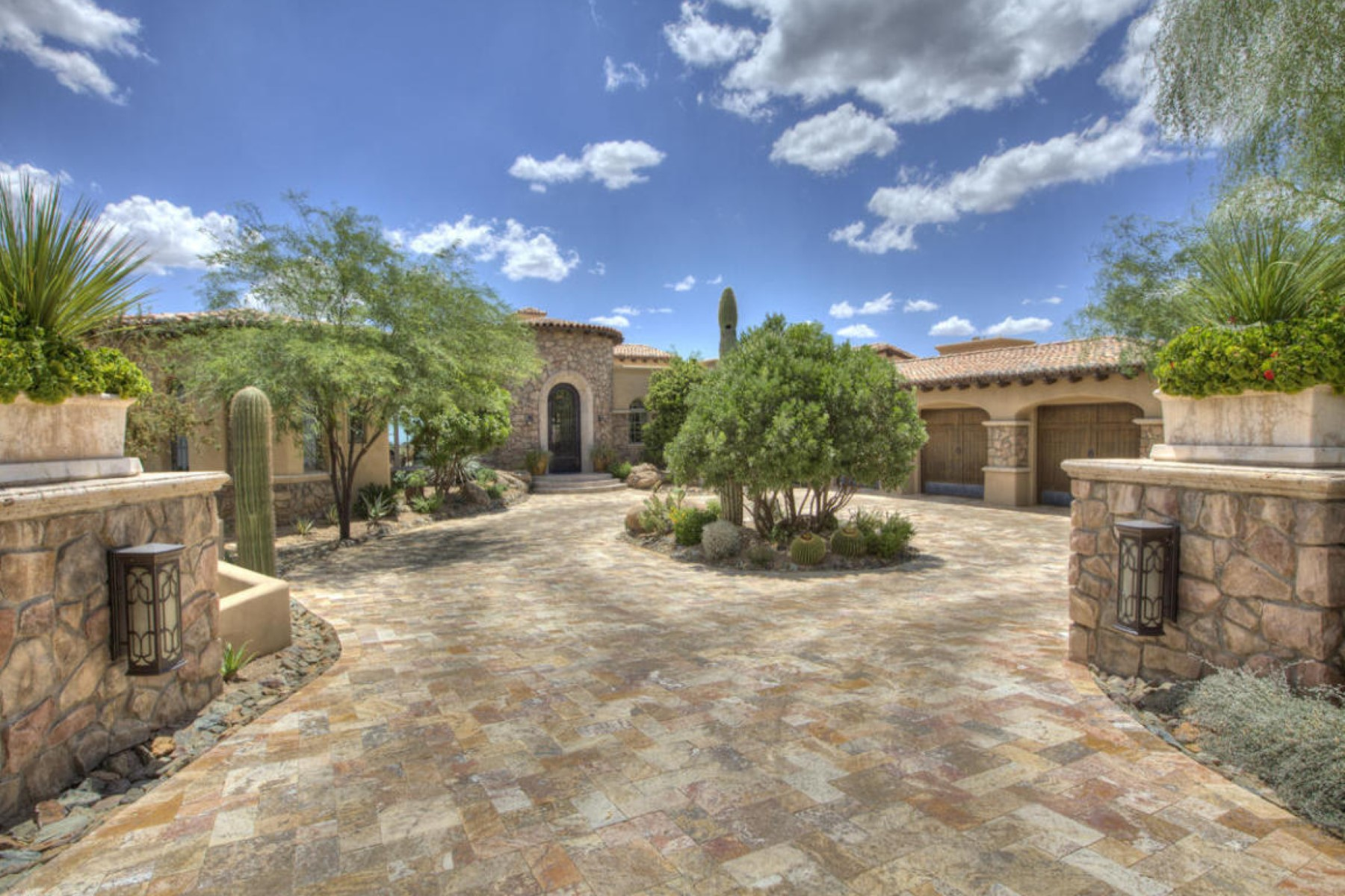 Property For Sale at Elegant Tuscan Design on the 16th Hole of the Apache Golf Course in Desert Mtn