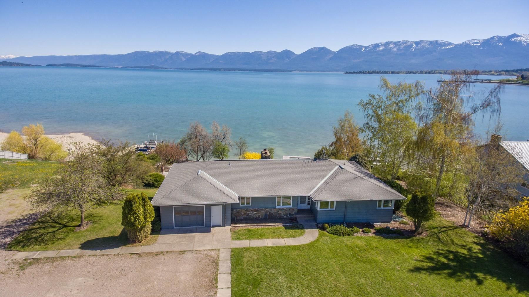 Частный односемейный дом для того Продажа на 242 Shoreline Drive Polson, Монтана, 59860 Соединенные Штаты