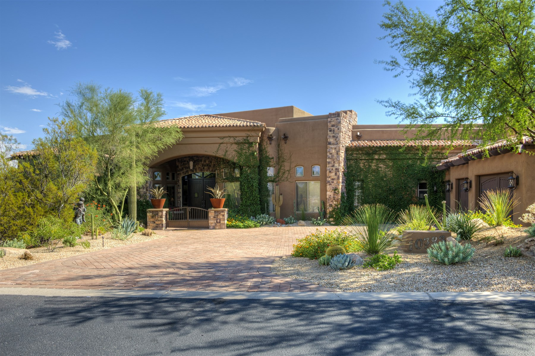 Single Family Home for Sale at Situated on one of the best golf course lots in Troon North's Pinnacle Canyon 10783 E Mark Lane Scottsdale, Arizona 85262 United States