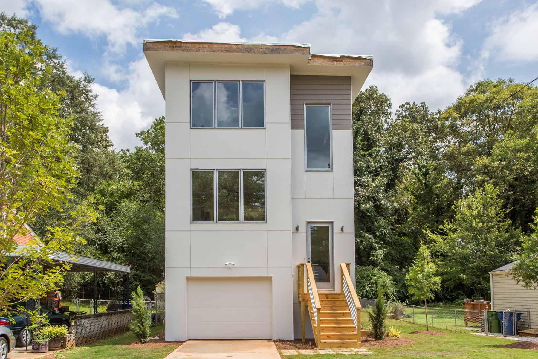 Частный односемейный дом для того Продажа на East Lake Modern 430 Hooper Street SE East Lake, Atlanta, Джорджия 30317 Соединенные Штаты
