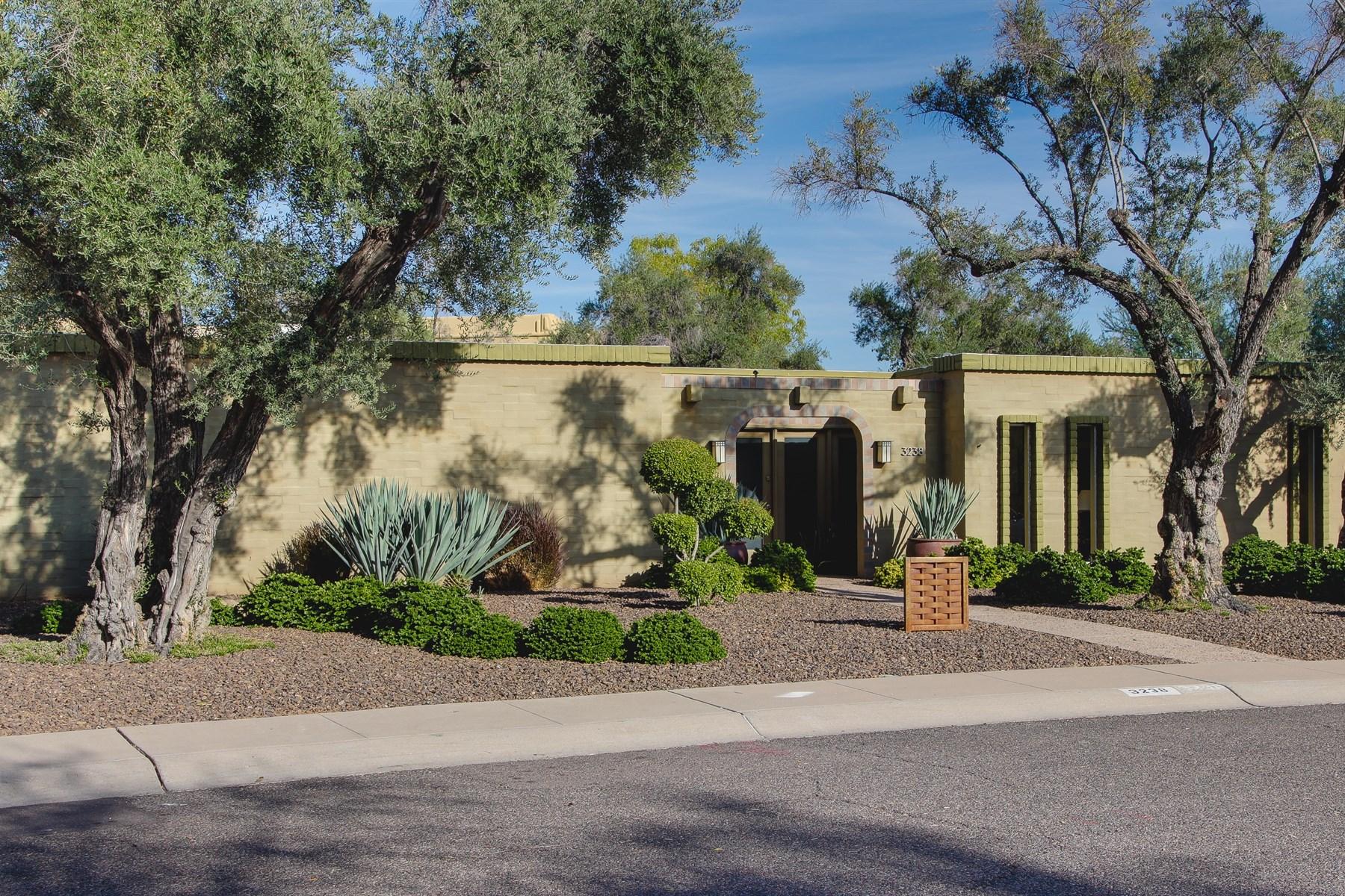 Частный односемейный дом для того Продажа на Mid-Century Modern by International Architect Bennie Gonzales 3238 E Minnezona Circle Phoenix, Аризона 85018 Соединенные Штаты