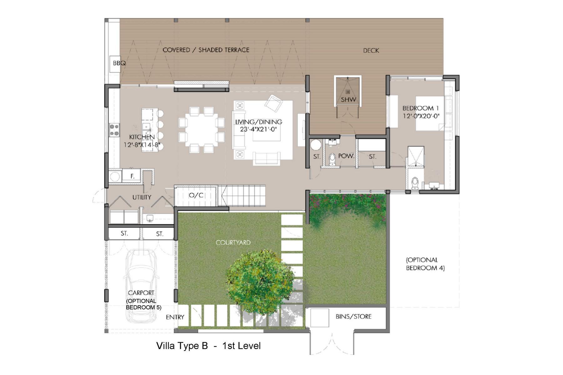 Additional photo for property listing at Sunset Beach Villas - Design B Gardenview Leeward, Провиденсьялес TC Теркс И Кайкос