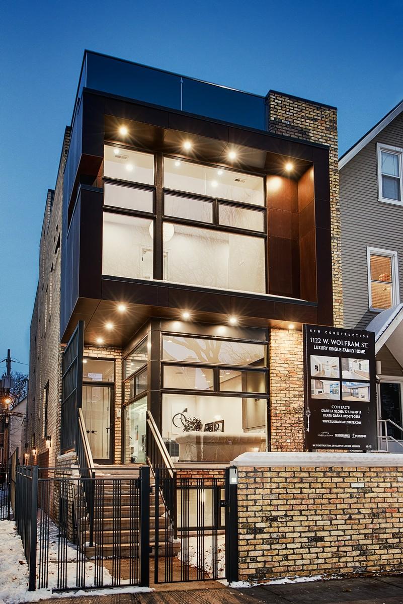 Maison unifamiliale pour l Vente à Stunning New Construction Single Family Home 1122 W Wolfram Street Lakeview, Chicago, Illinois, 60657 États-Unis