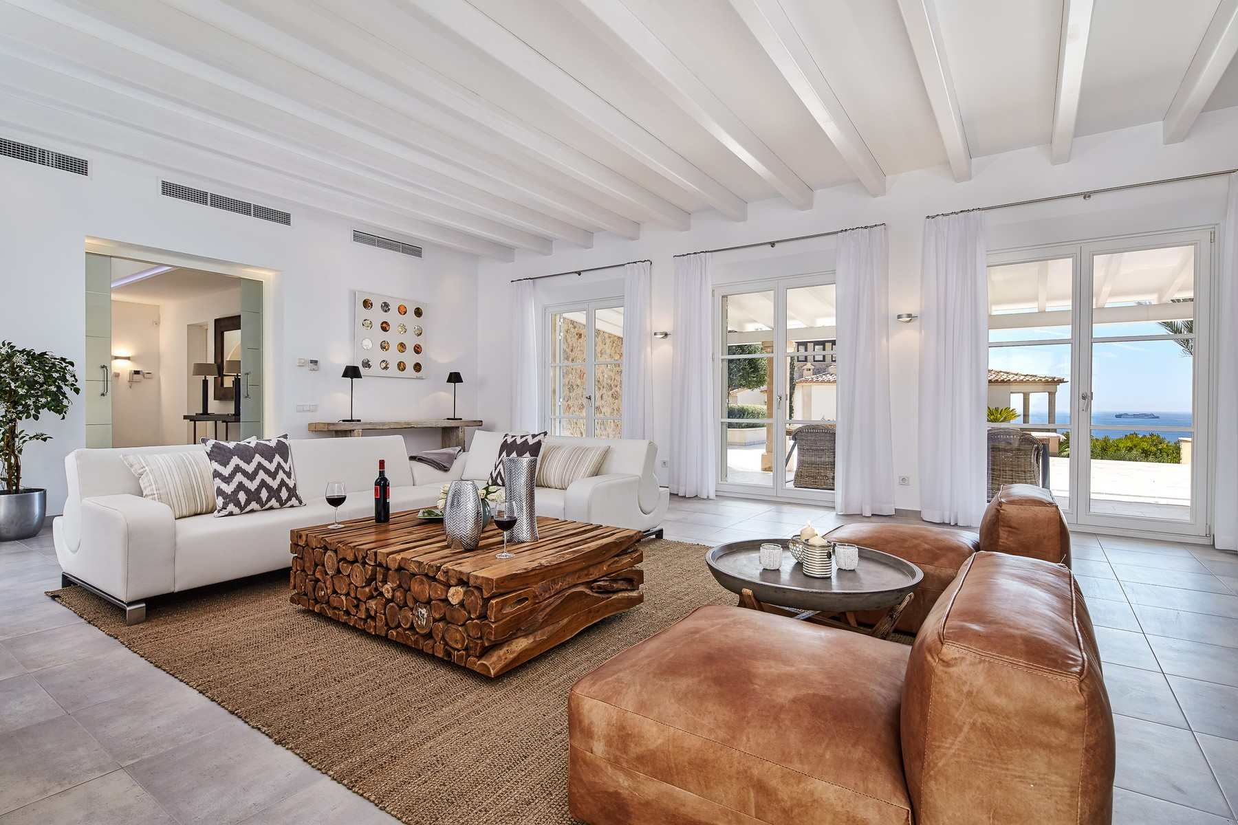 Single Family Home for Sale at Luxury villa with modern interior in Cala Moragues Port Andratx, Mallorca, 07157 Spain