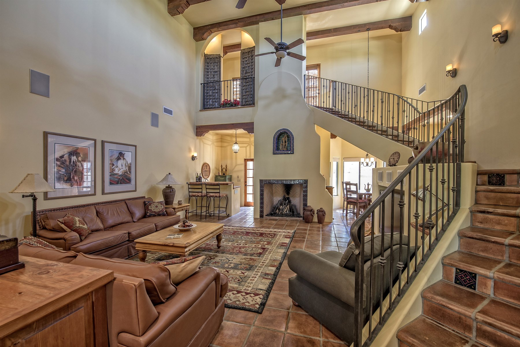 Property For Sale at Santa Fe style home beautifully situated on large private lot