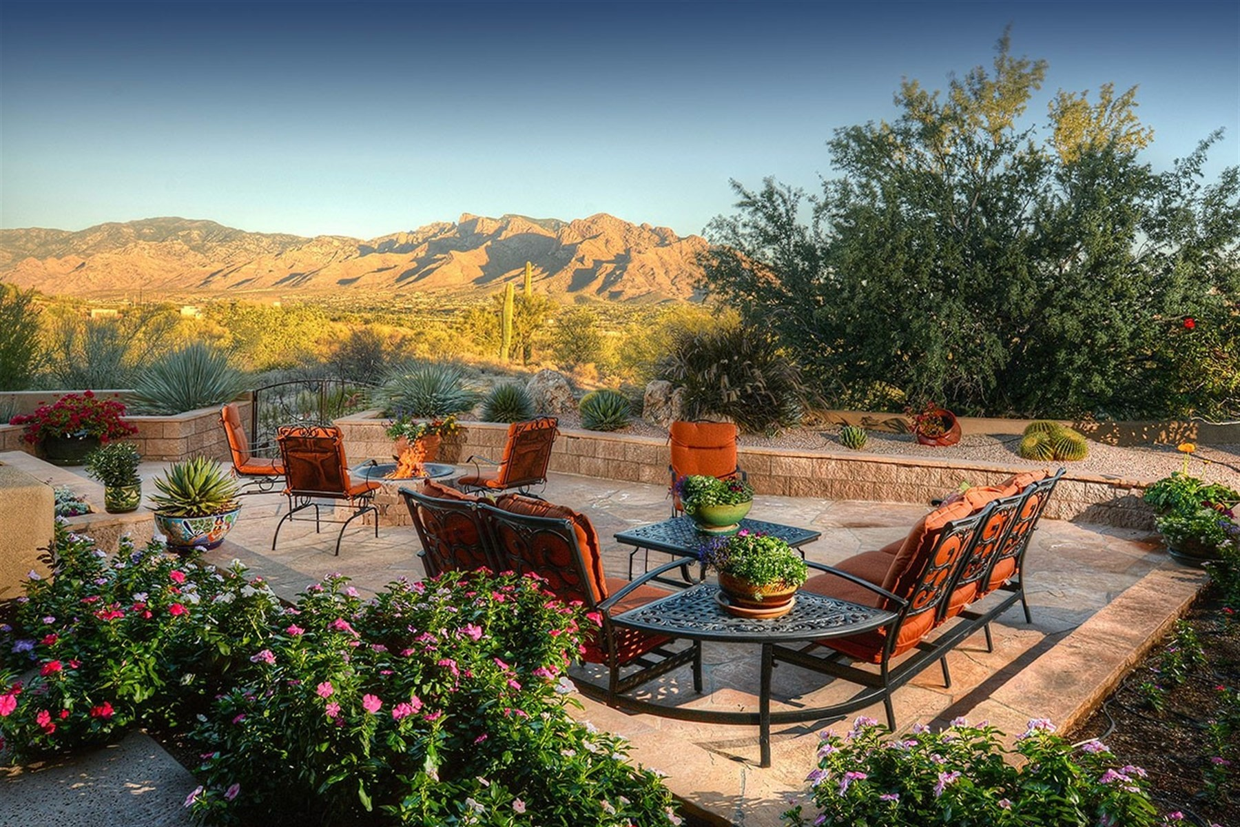 sales property at Southwestern style retreat is nestled atop a ridge with spectacular views