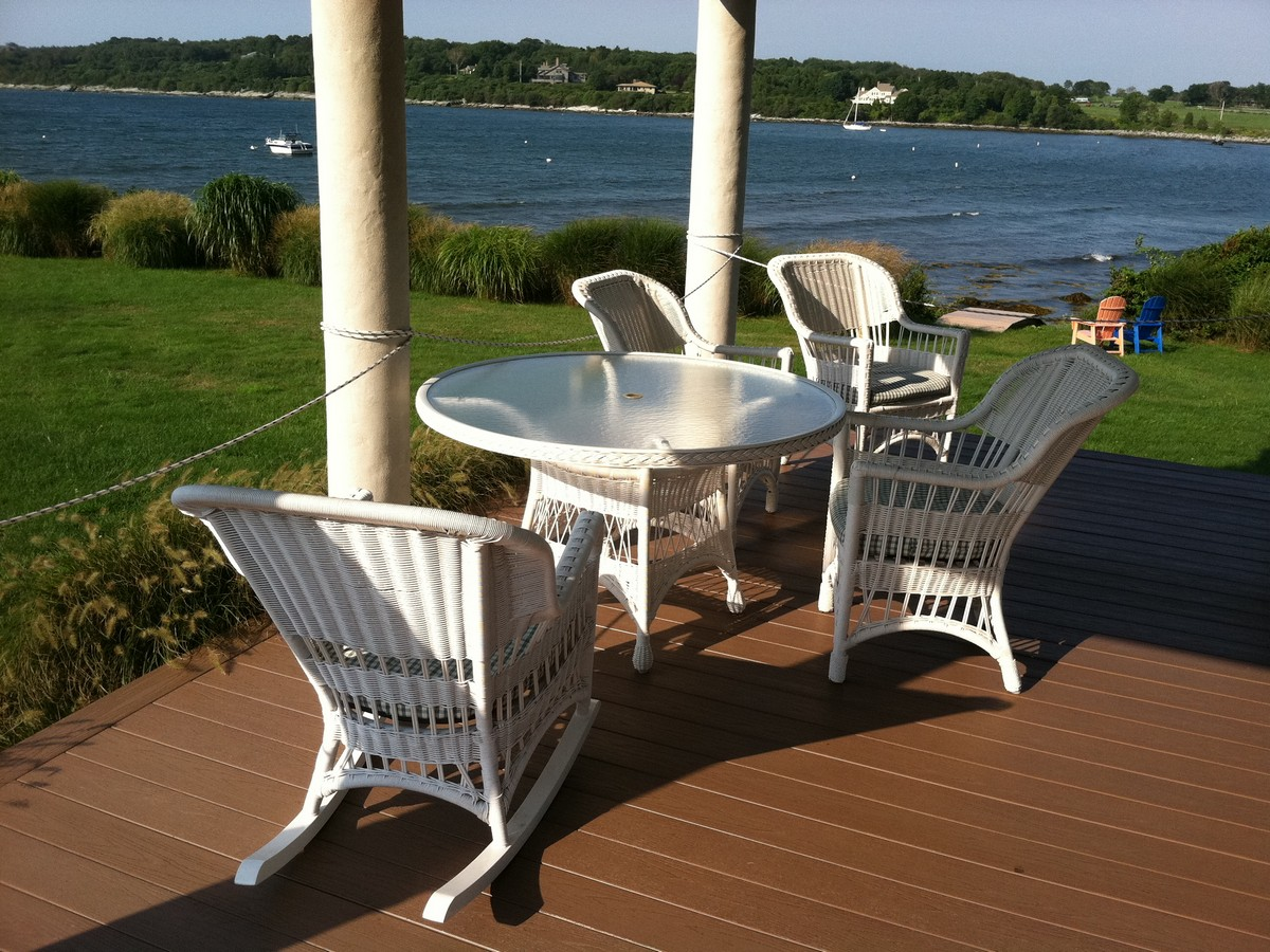 Single Family Home for Sale at Waterfront Contemporary on Mackerel Cove 16 Highland Drive Jamestown, Rhode Island 02835 United States