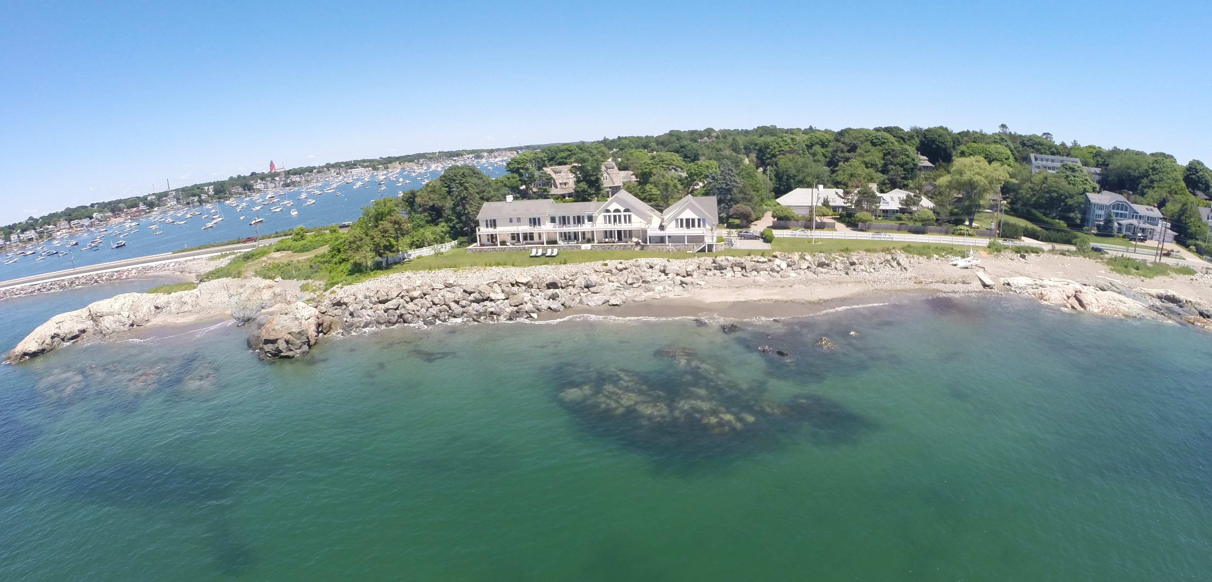 Single Family Home for Sale at Spectacular Beach Front Contemporary Home 201 Ocean Avenue Marblehead, Massachusetts 01945 United States