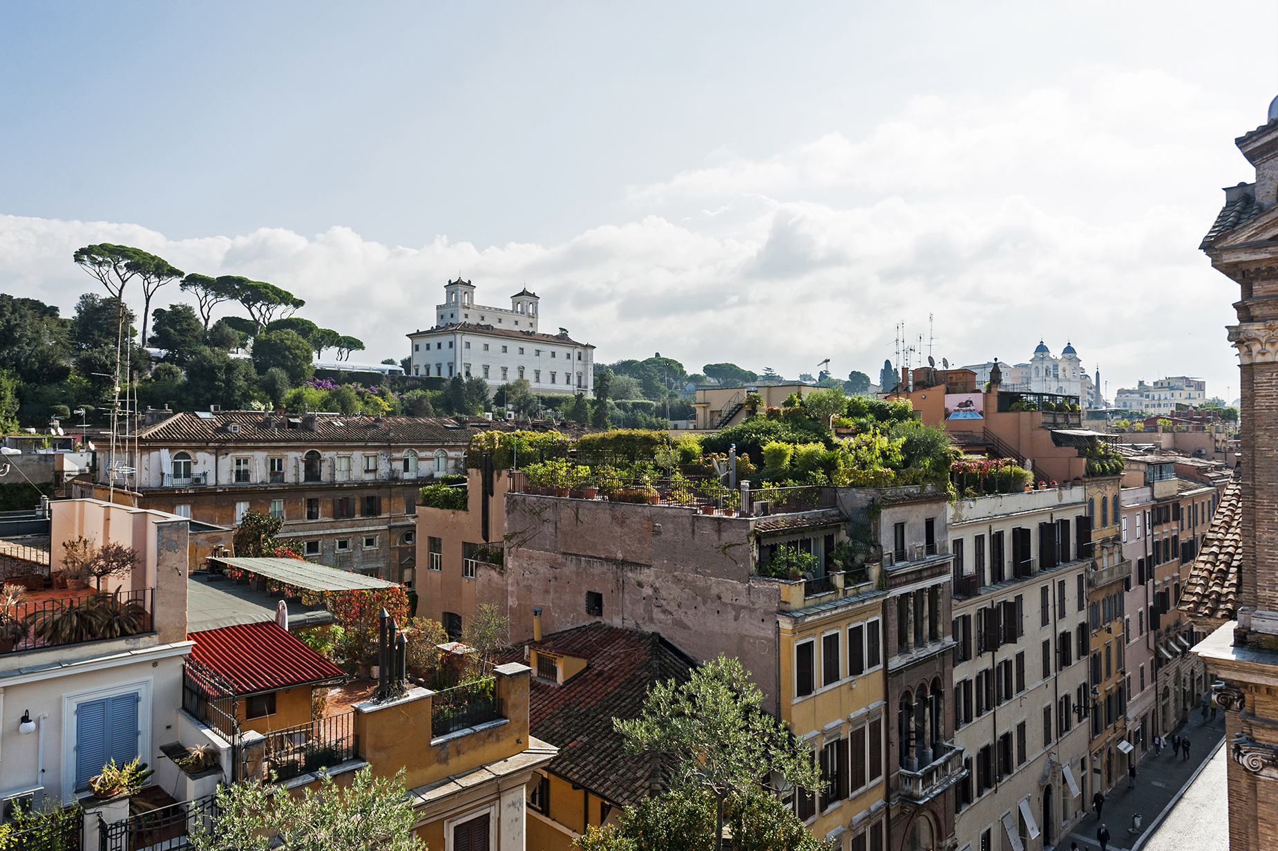 Additional photo for property listing at Unique Penthouse near the Spanish Steps with stunning views Via del Babuino Rome, Roma 00187 Italia