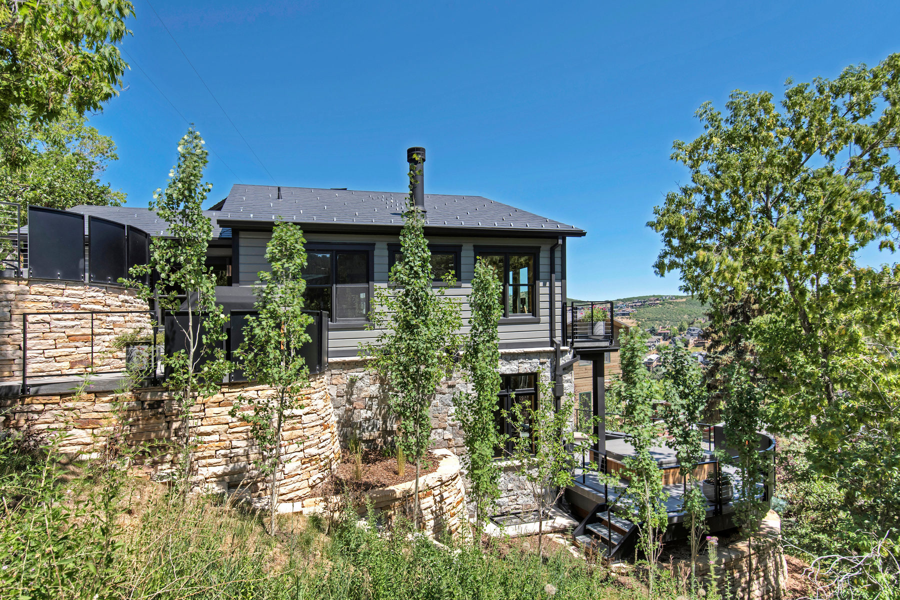 Single Family Home for Sale at Stunning Custom Contemporary Design in Old Town 41 Sampson Avenue Park City, Utah, 84060 United States