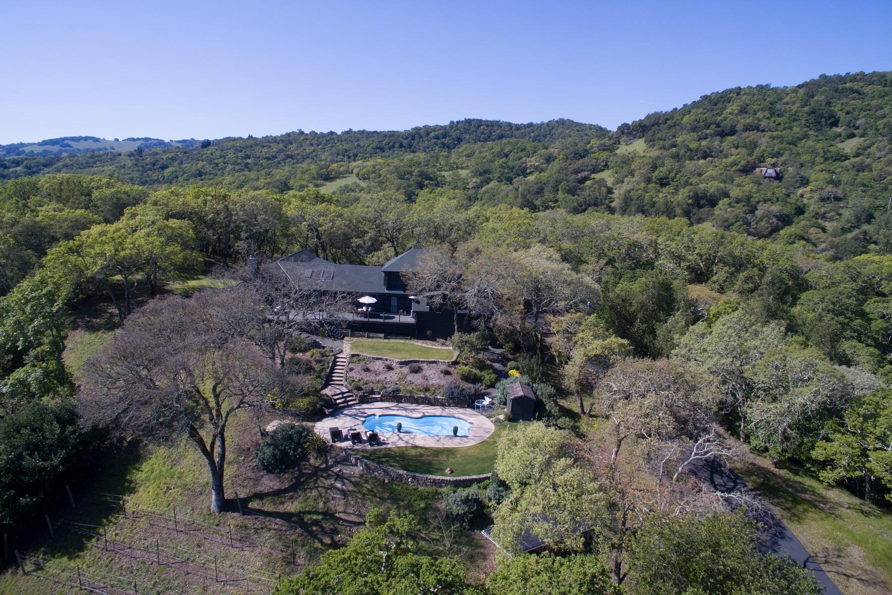 獨棟家庭住宅 為 出售 在 Private Ridge Top Estate 17918 Carriger Road Sonoma, 加利福尼亞州 95476 美國